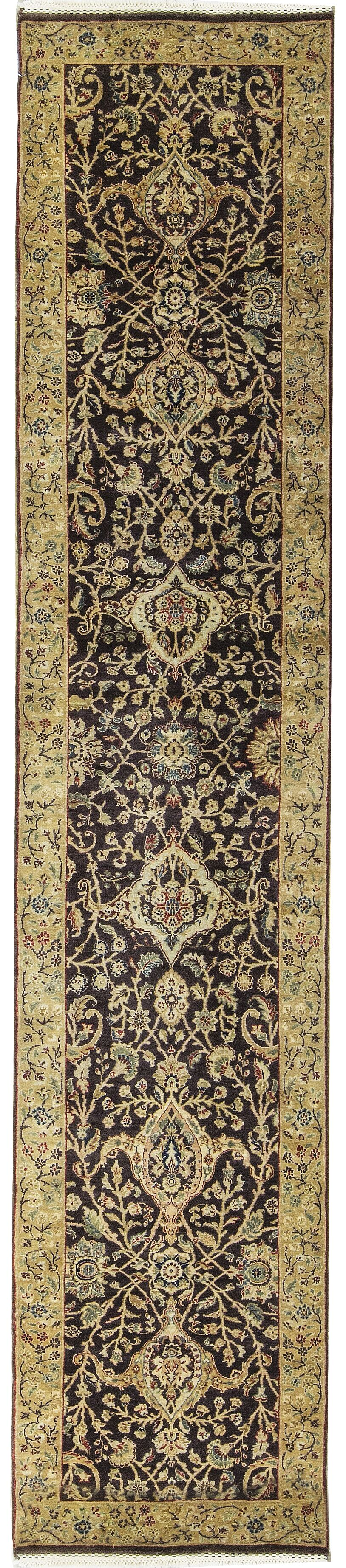 One-of-a-Kind Avalon Hand-Knotted Wool Black/Gold Indoor Area Rug