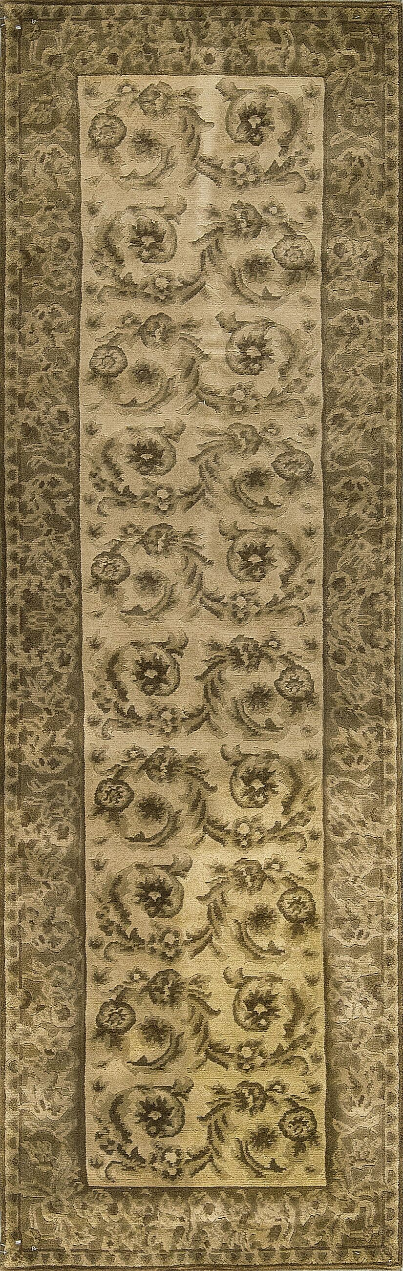 One-of-a-Kind Hand-Knotted Wool Beige Indoor Area Rug