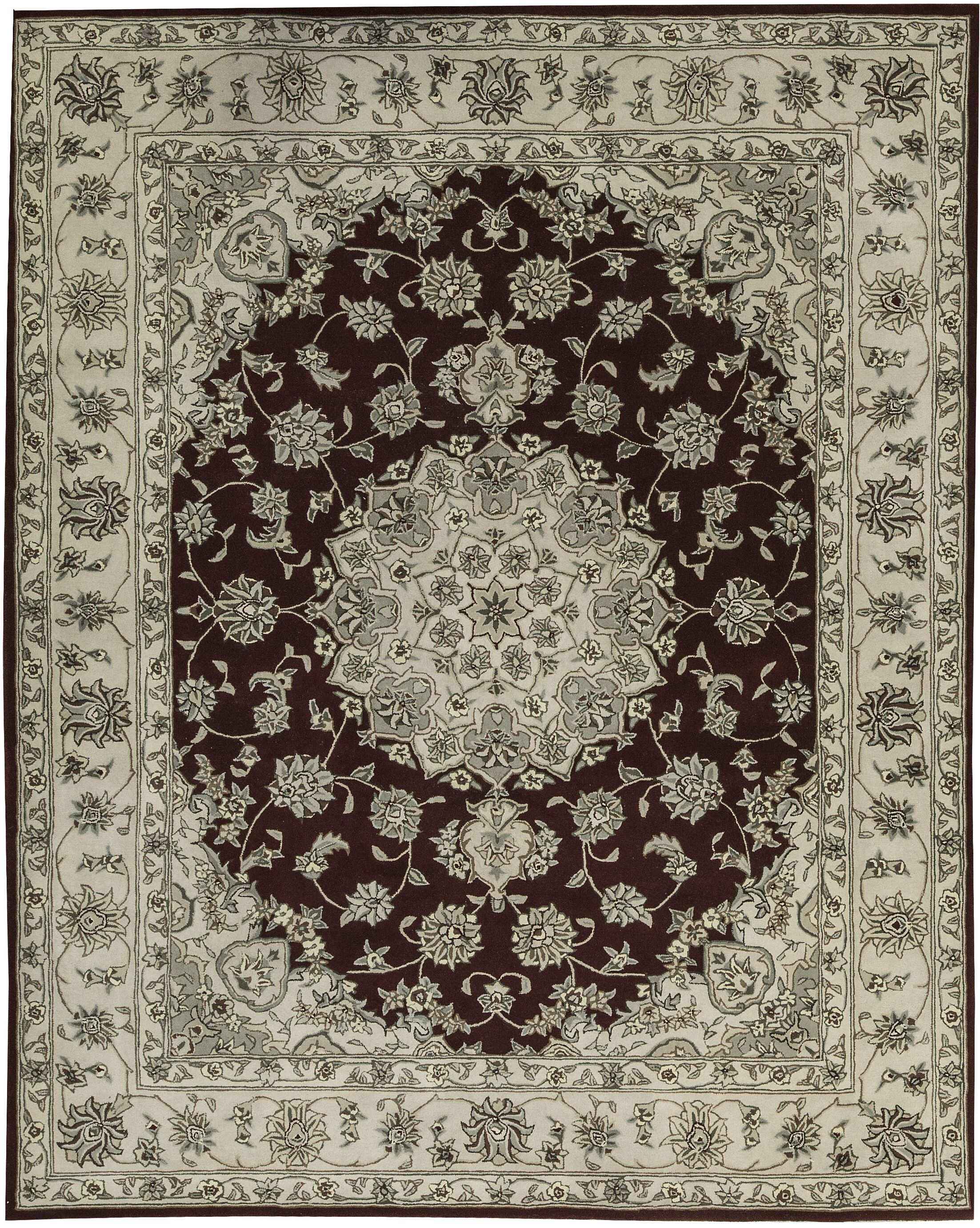 One-of-a-Kind Castilian Hand-Tufted 8' x 10' Wool/Silk Gray/Brown Area Rug