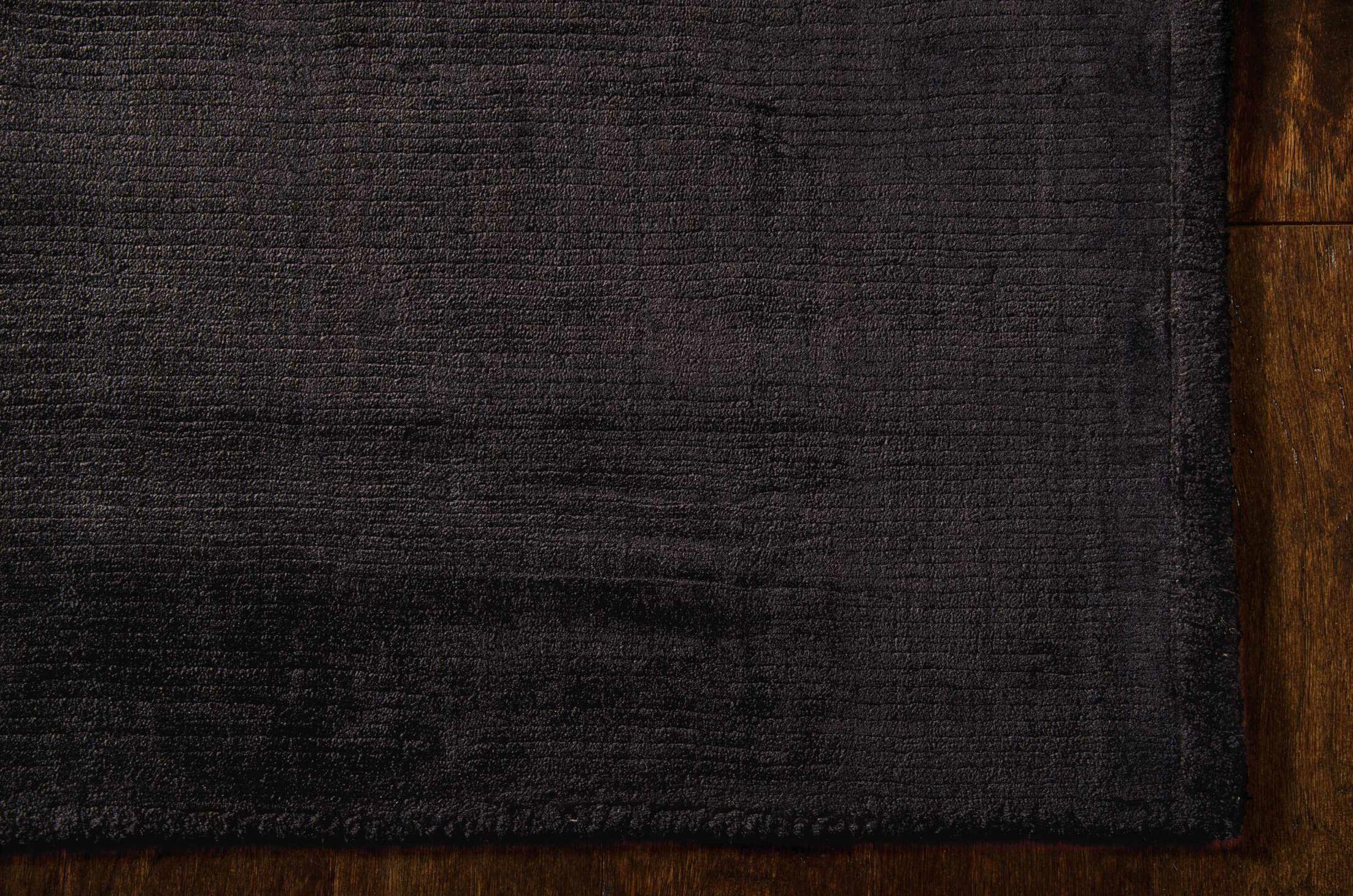 Lunar Hand-Woven Obsidian Area Rug Rug Size: Rectangle 9'6