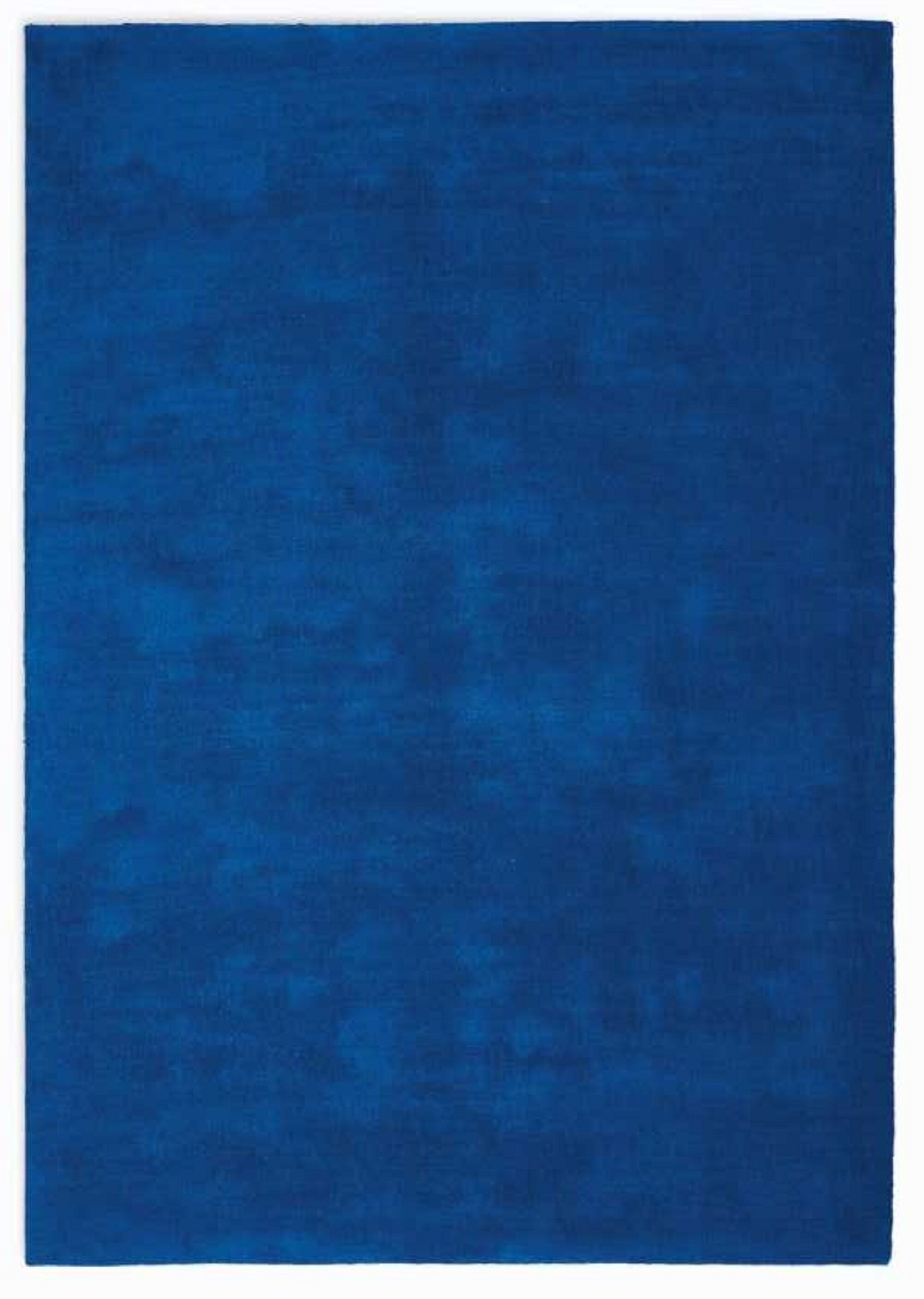 LA Hand-Woven Cobalt Blue Area Rug Rug Size: Rectangle 5'3
