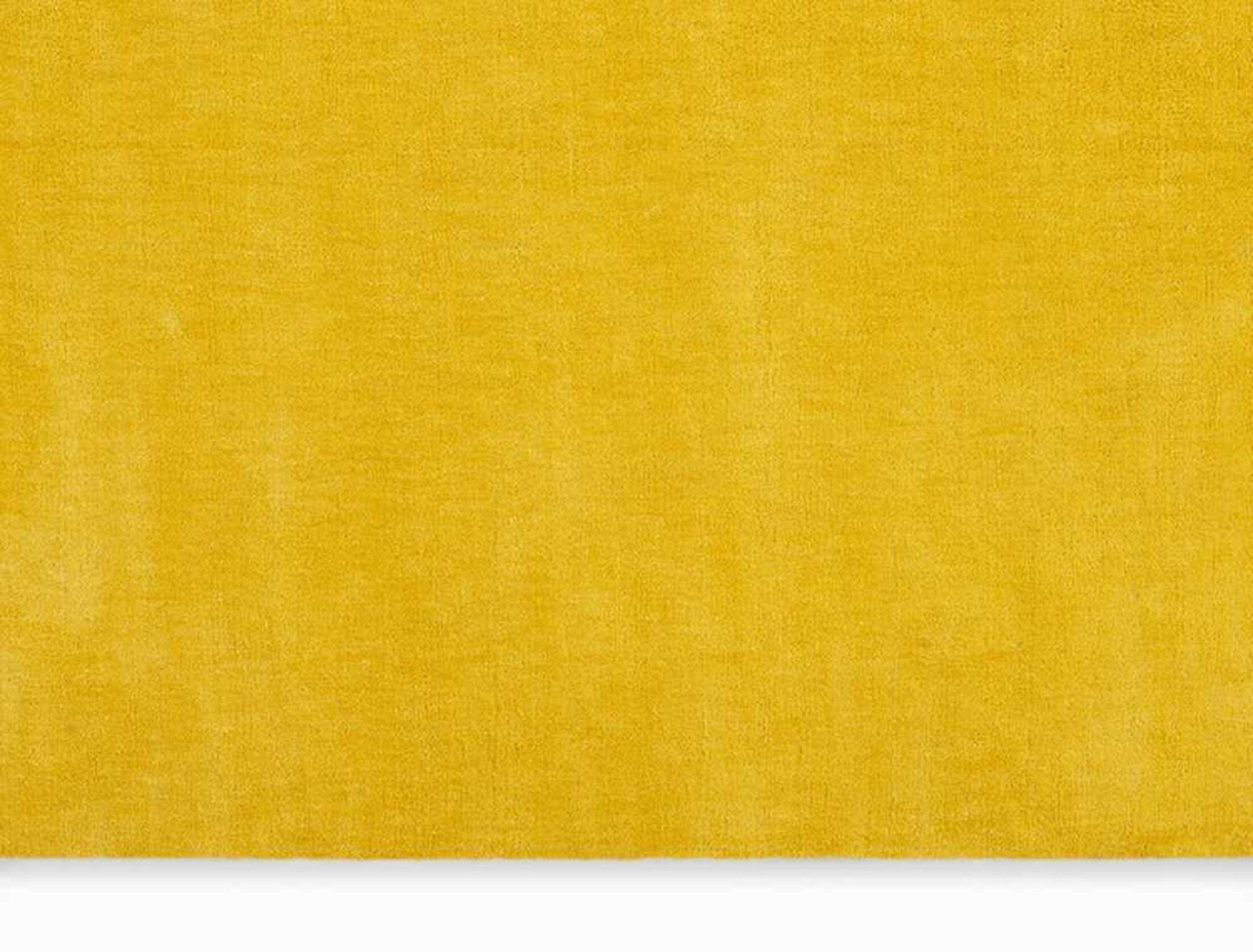 LA Hand-Woven Yellow Area Rug Rug Size: Rectangle 4' x 6'