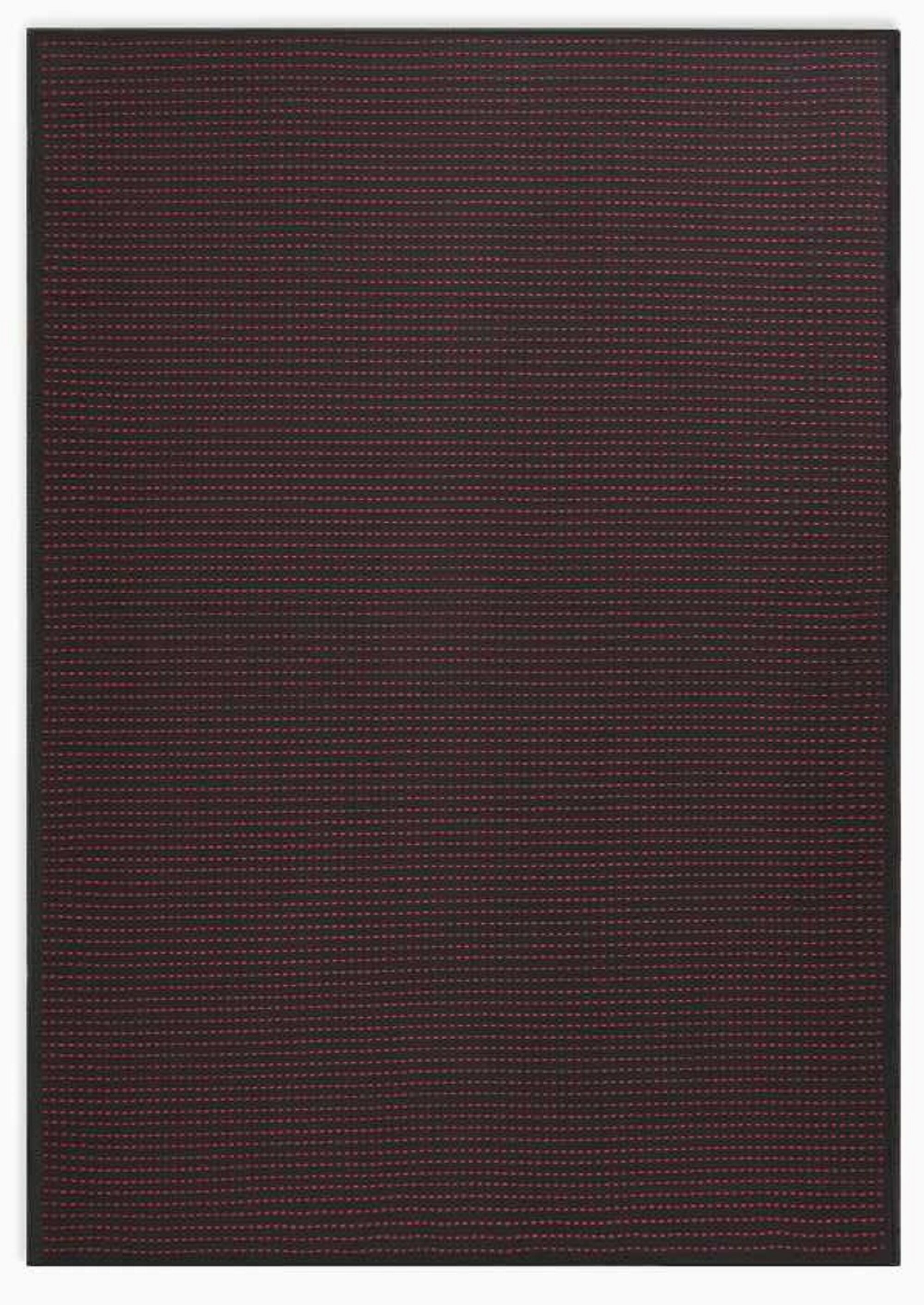 Seattle Hand-Woven Black/Magenta Indoor/Outdoor Area Rug Rug Size: Rectangle 8' x 10'