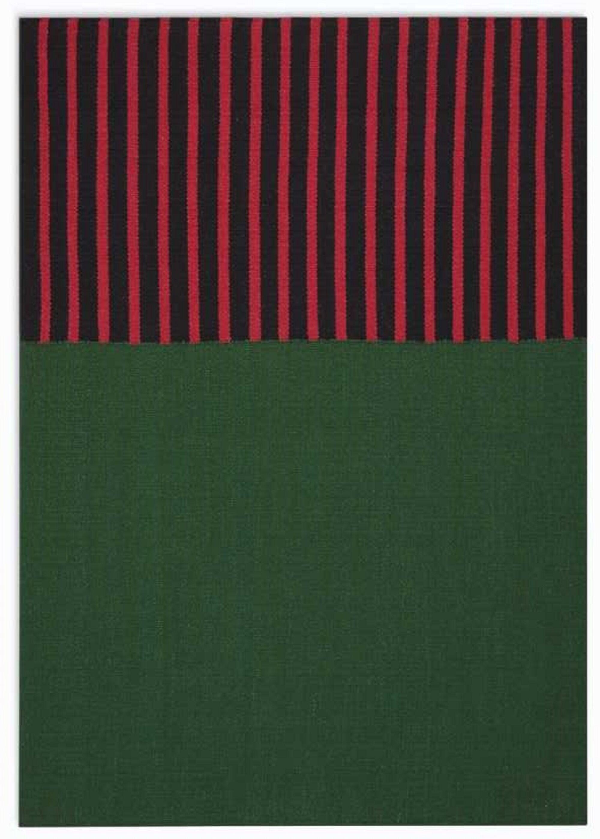 Nashville Modern Hand-Woven Green/Magenta/Black Area Rug Rug Size: Rectangle 5' x 7'