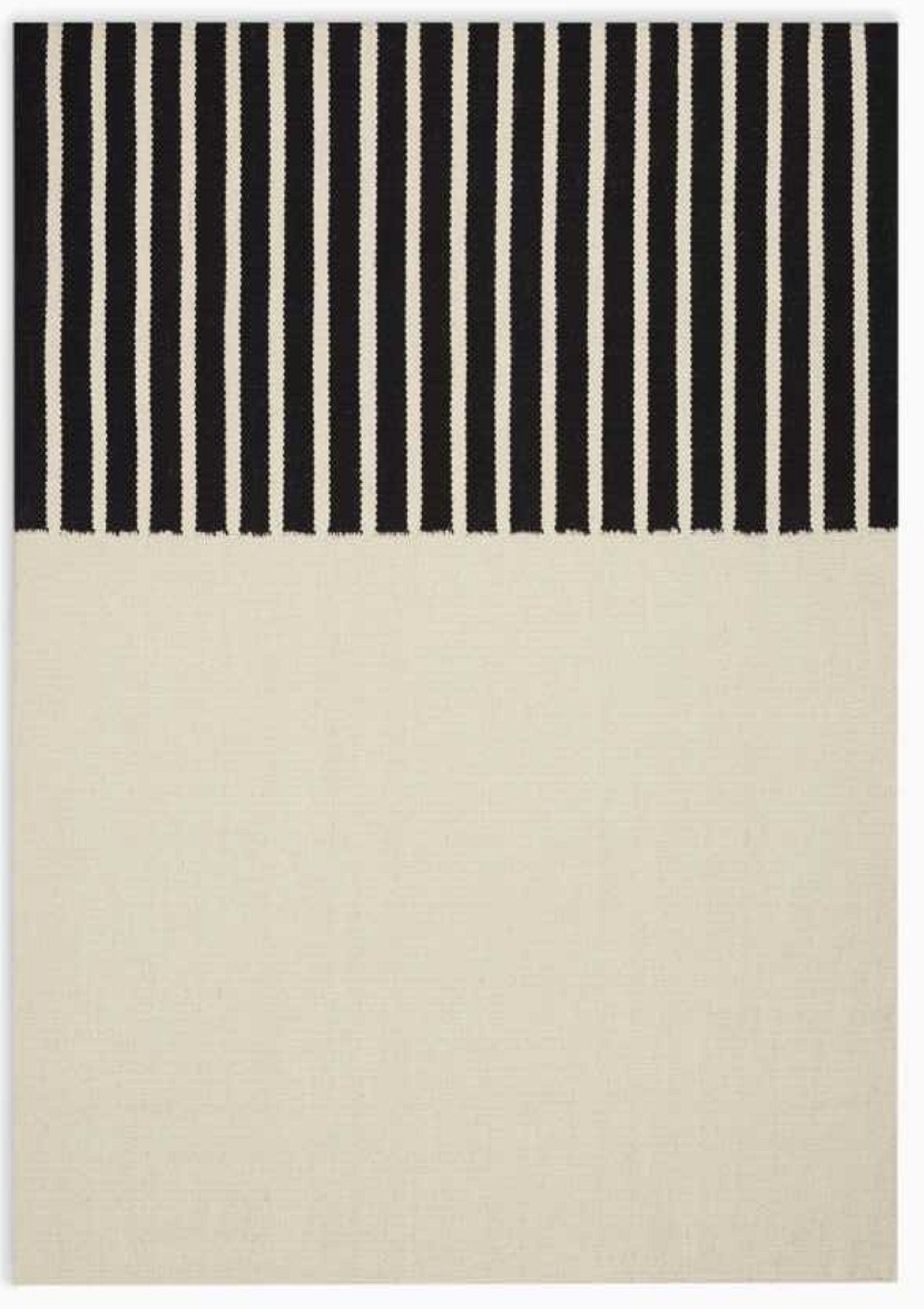 Nashville Modern Hand-Woven Ivory/Black Area Rug Rug Size: Rectangle 5' x 7'
