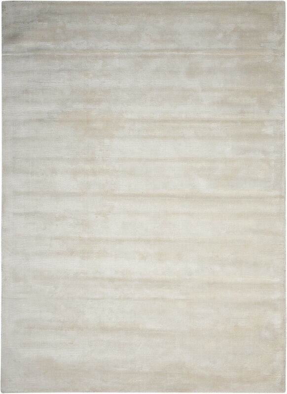 Lunar Hand-Woven Luminescent Rib Beige Area Rug Rug Size: Rectangle 5'6