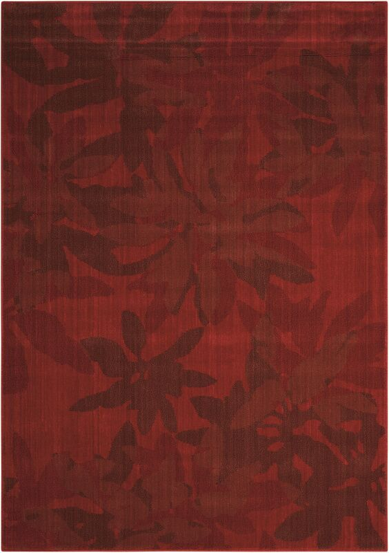Urban Winter Flower Garnet Area Rug Rug Size: Rectangle 5'3