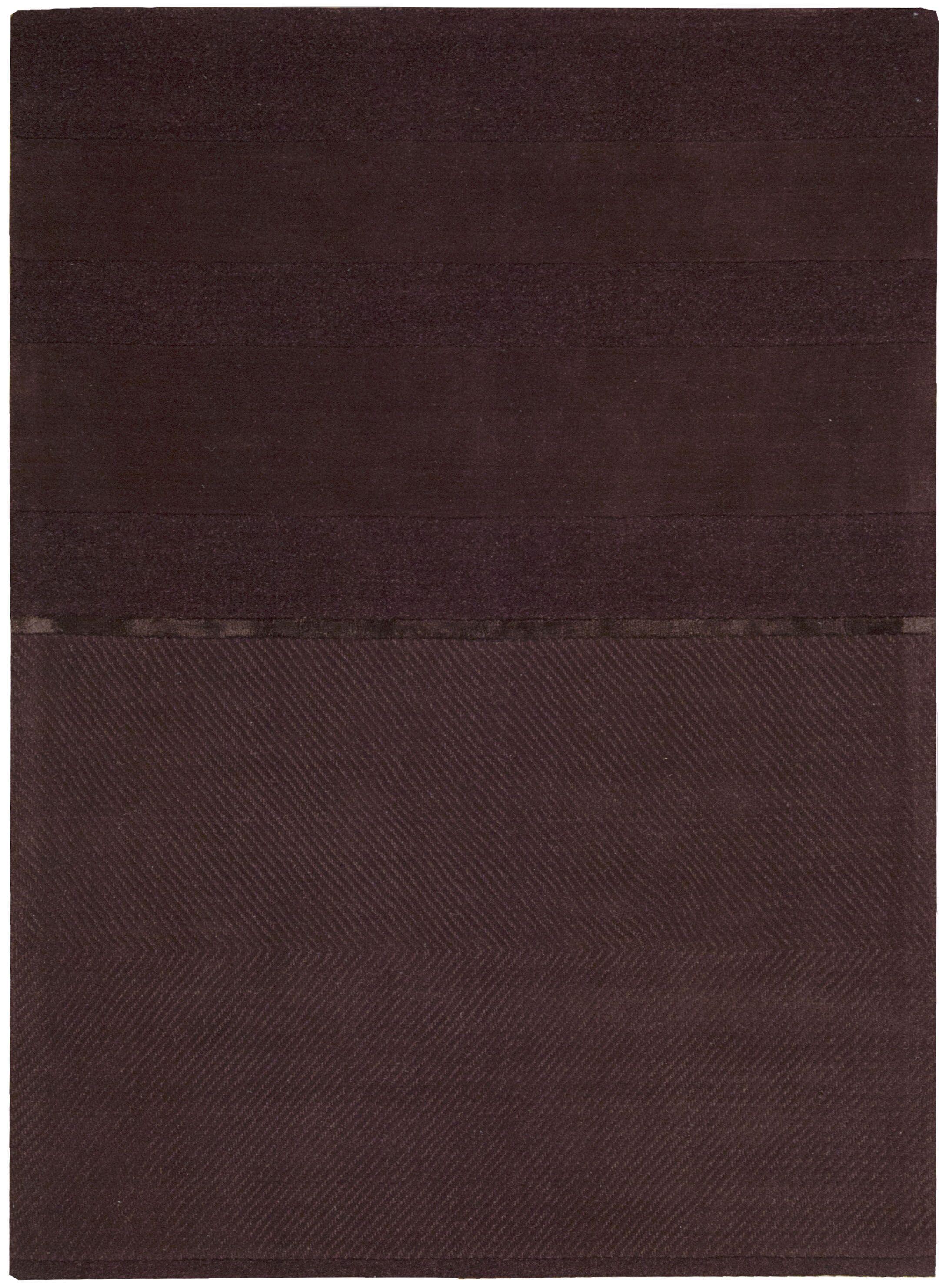 Vale Hand-Woven Portland Burgundy Area Rug Rug Size: Rectangle 4' x 6'