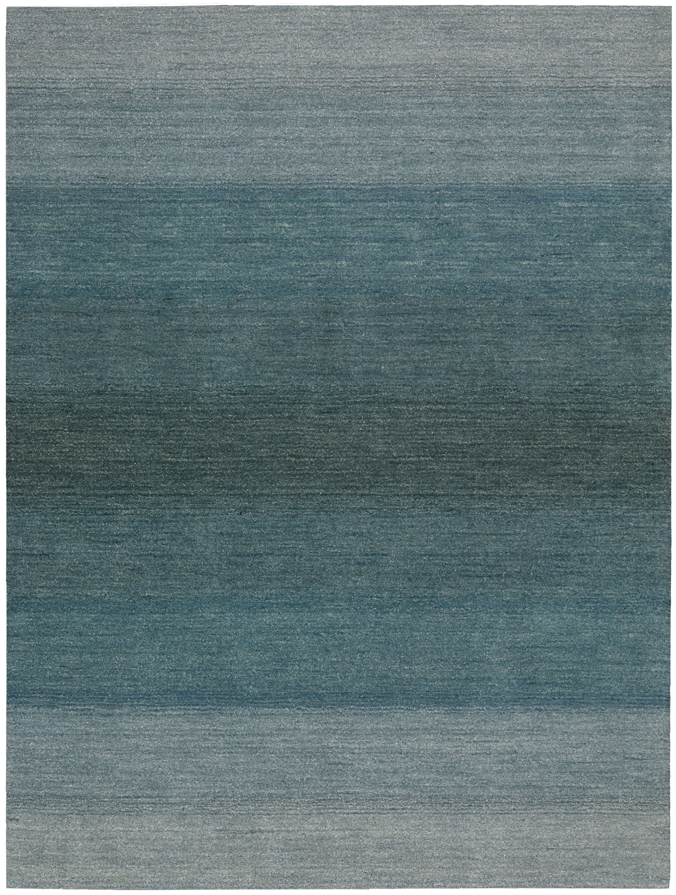 Linear Glow Hand-Woven Watercolor Aqua Area Rug Rug Size: Rectangle 4' x 6'