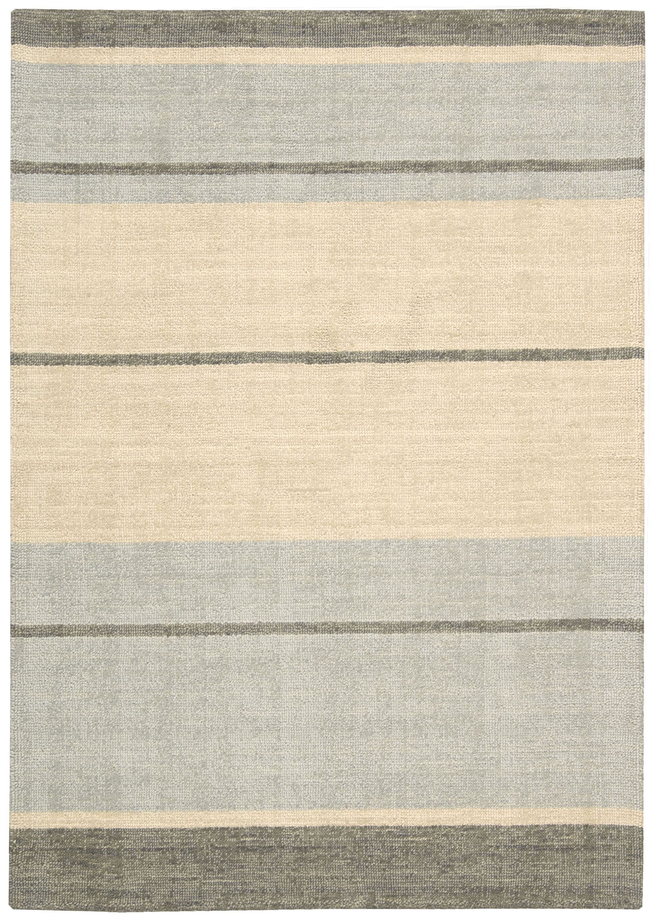 Tundra Hand-Woven Beige/Gray Area Rug Rug Size: Rectangle 4' x 6'