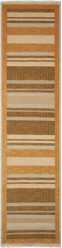 Field Hand Woven Wool Crackle Stripe Fern Area Rug Rug Size: Runner 2'6