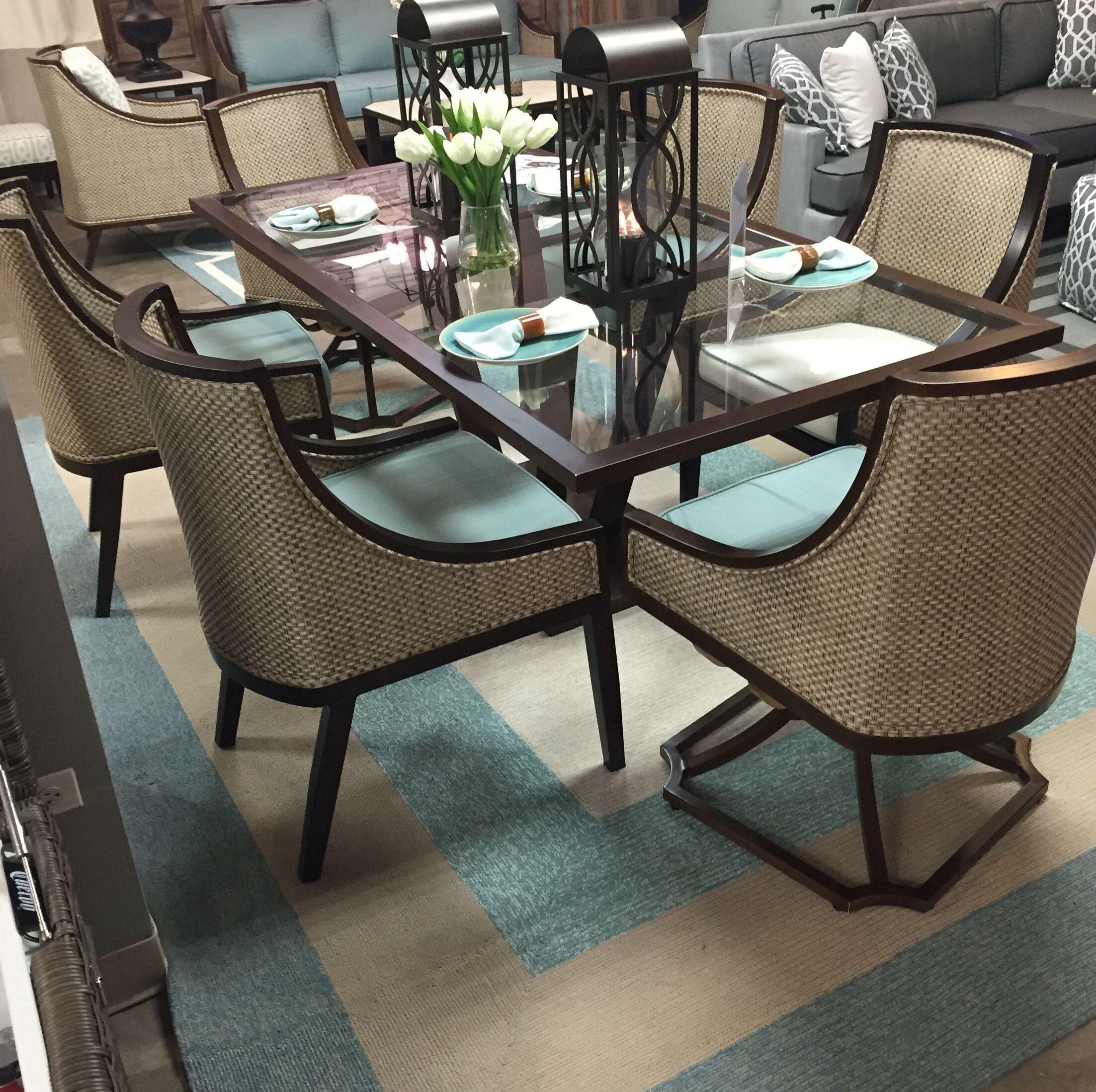 Hamptons Highview Hand-Hooked Spa Indoor/Outdoor Area Rug Rug Size: Rectangle 5' x 7'