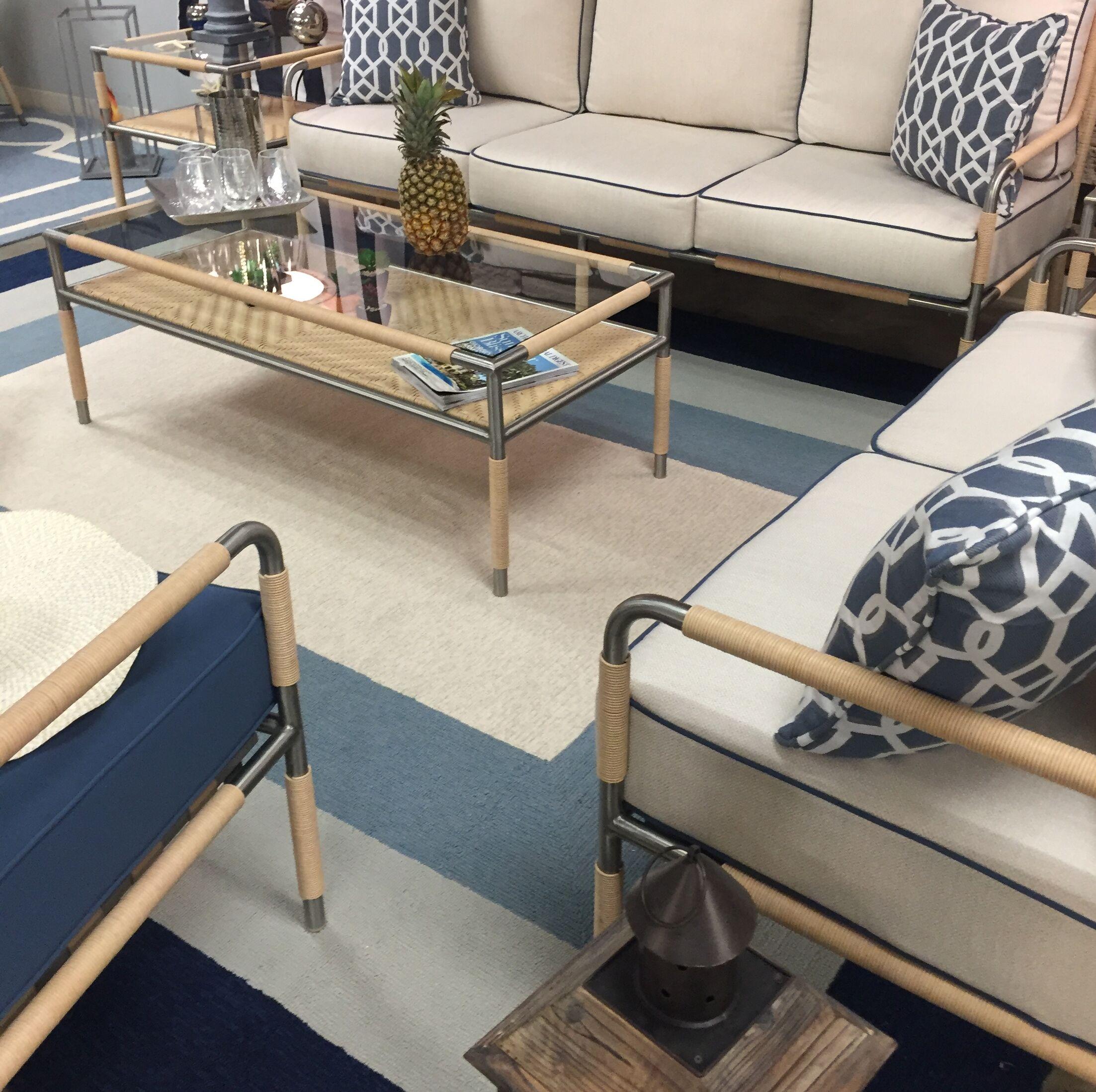 Hamptons Highview Hand-Hooked Slate/Navy Indoor/Outdoor Area Rug Rug Size: Rectangle 5' x 7'