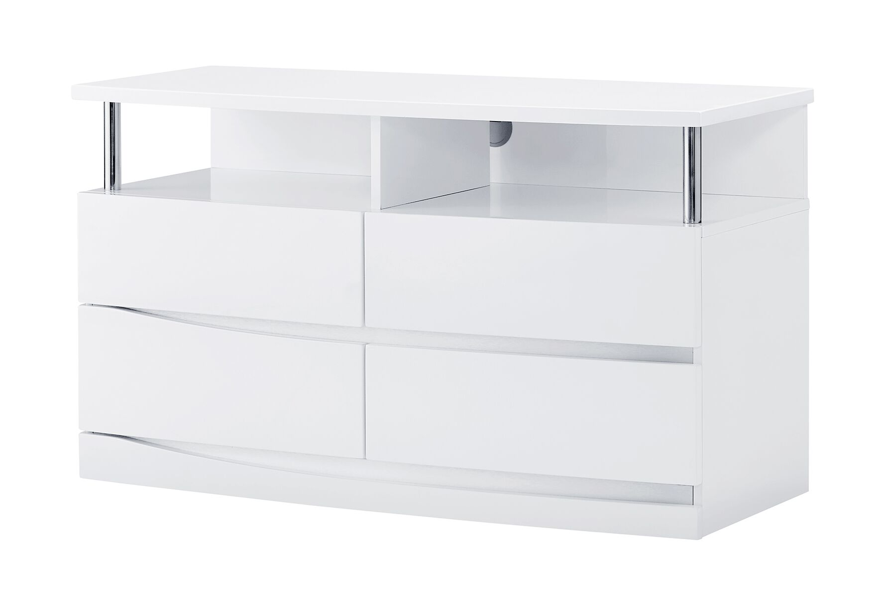 Sanmiguel Entertainment Center Color: White