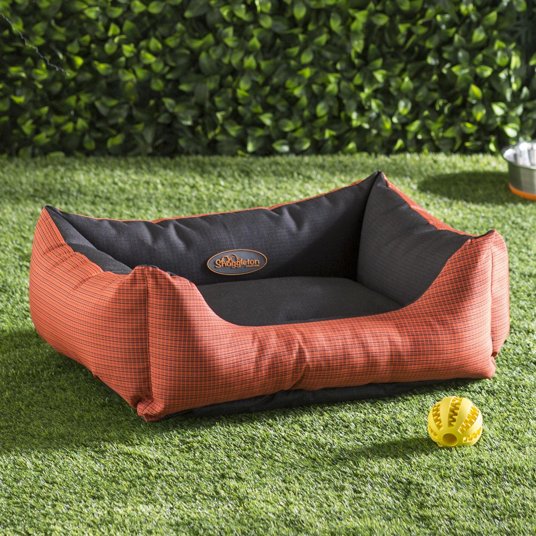 Annemarie Outdoor Dog Lounger Bolster Color: Orange, Size: 24