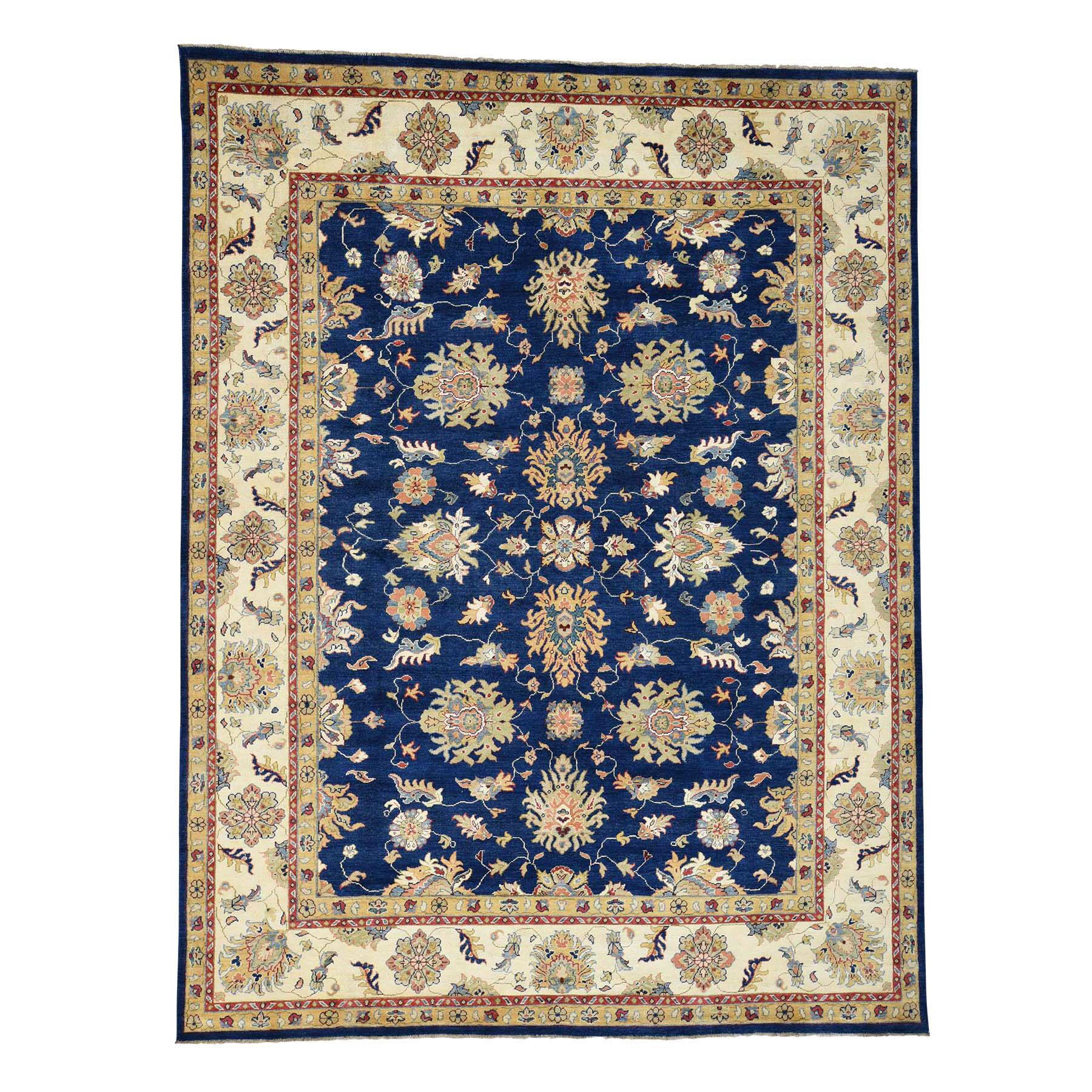 One-of-a-Kind Tillman Special Mahal Hand-Knotted Navy Blue/Yellow Area Rug