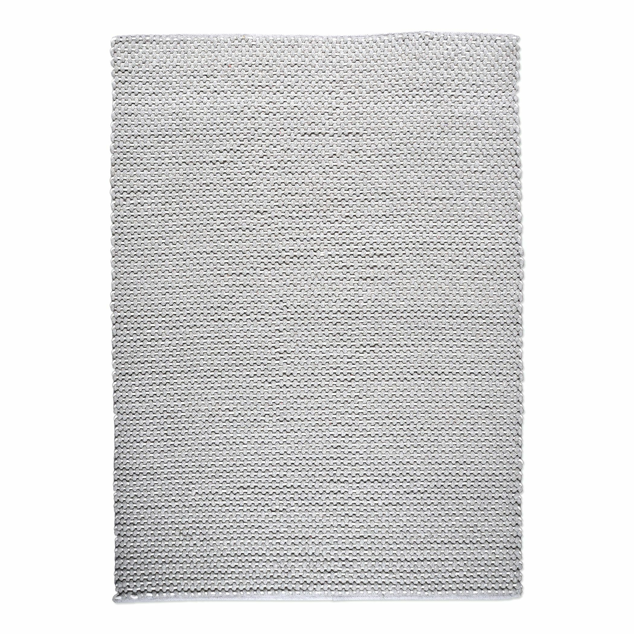 Petra Hand Woven Wool Gray Area Rug Rug Size: Rectangle 5' x 8'