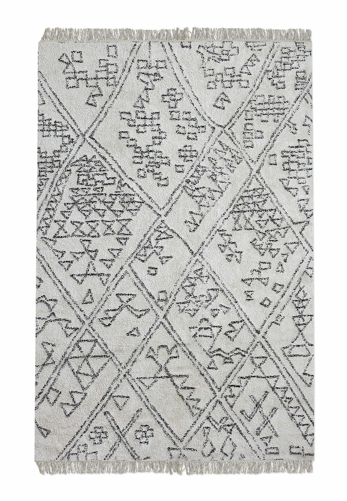 Reims Hand-Tufted Cotton Ivory Area Rug Rug Size: 5' x 8'