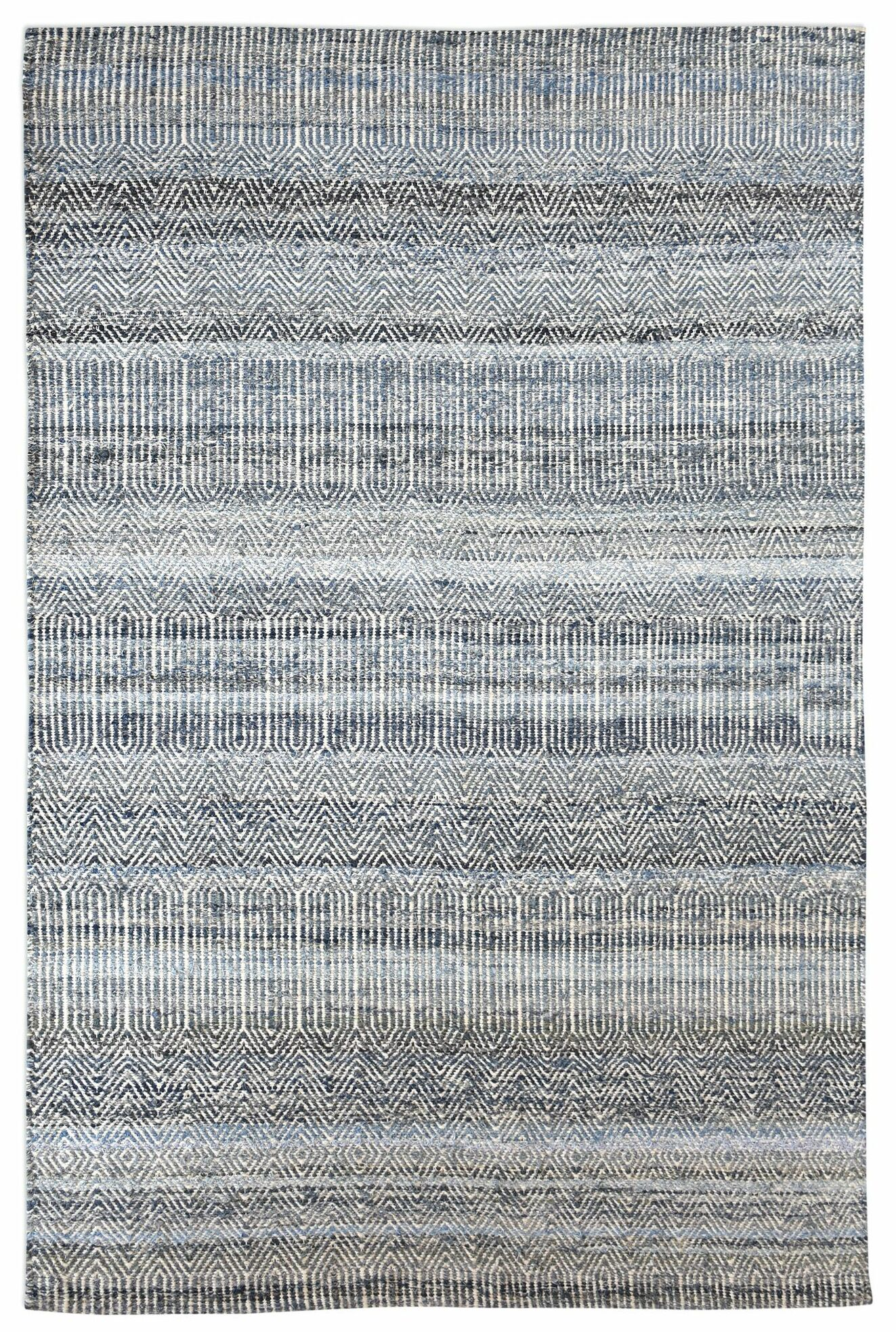 Cleavenger Hand-Woven Blue Area Rug Rug Size: 9' x 12'