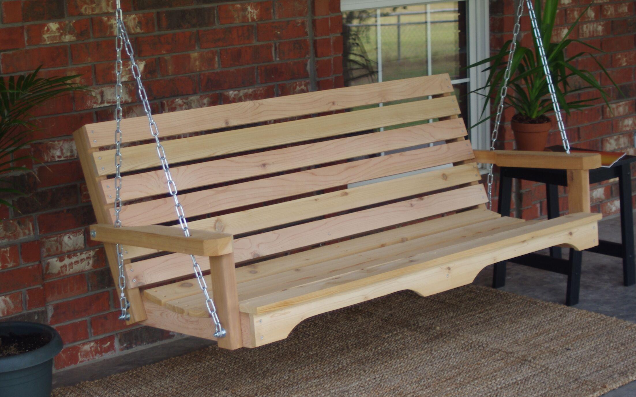 Galvez Cedar Porch Swing Finish: Stained/Regular, Size: 23.5