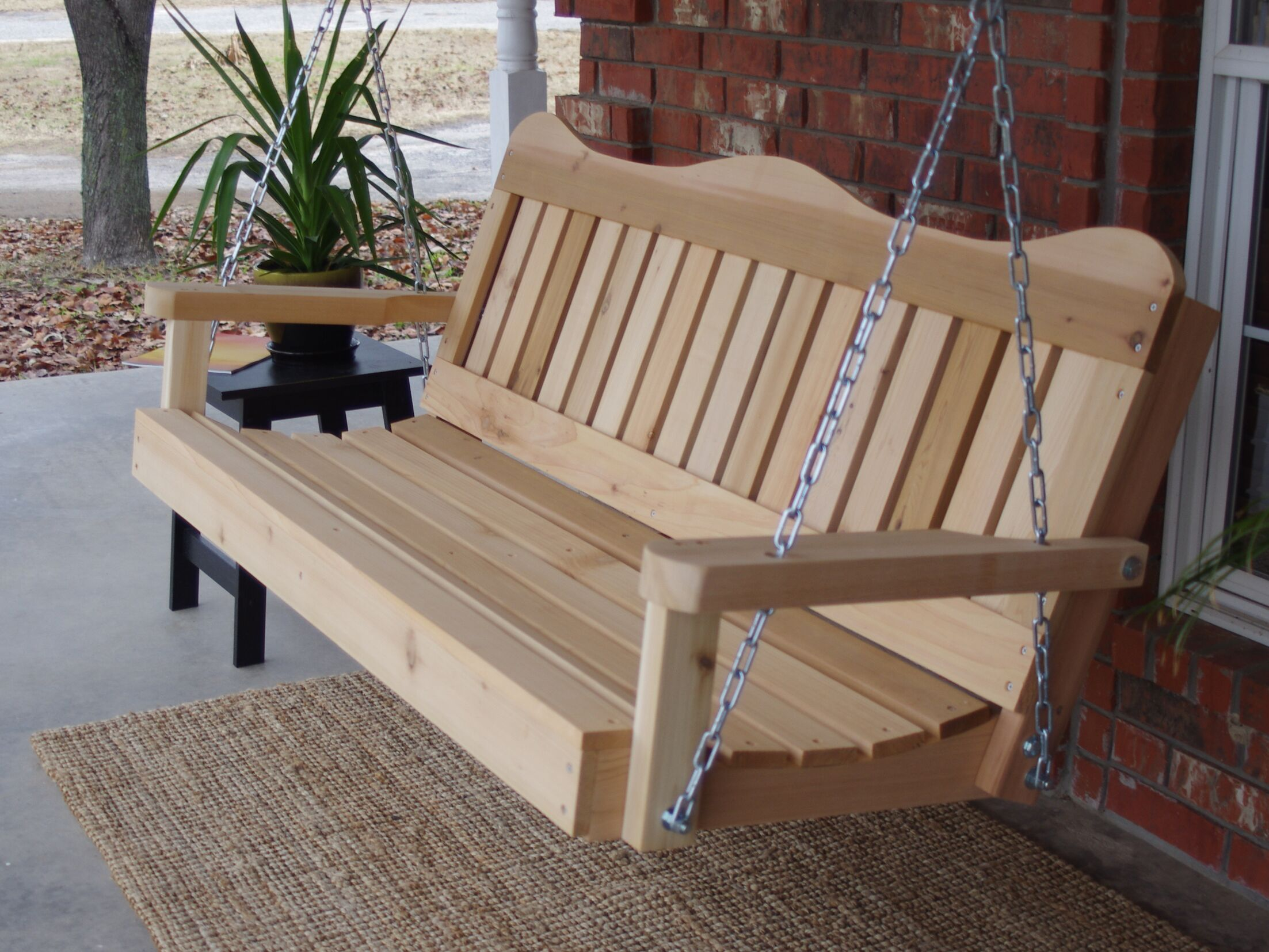 Galvin Porch Swing Finish: Stained/Regular, Size: 25'' H x 88.5'' W x 27.5'' D
