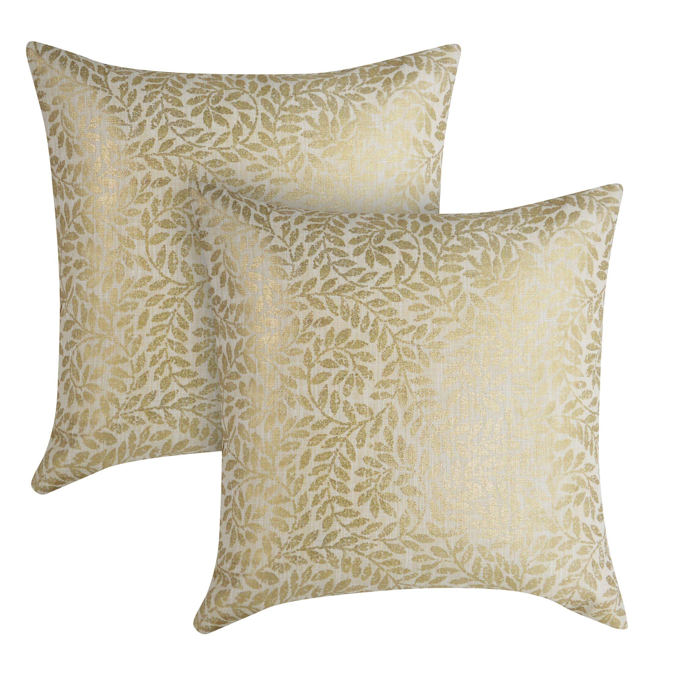Foil Printed Throw Pillow
