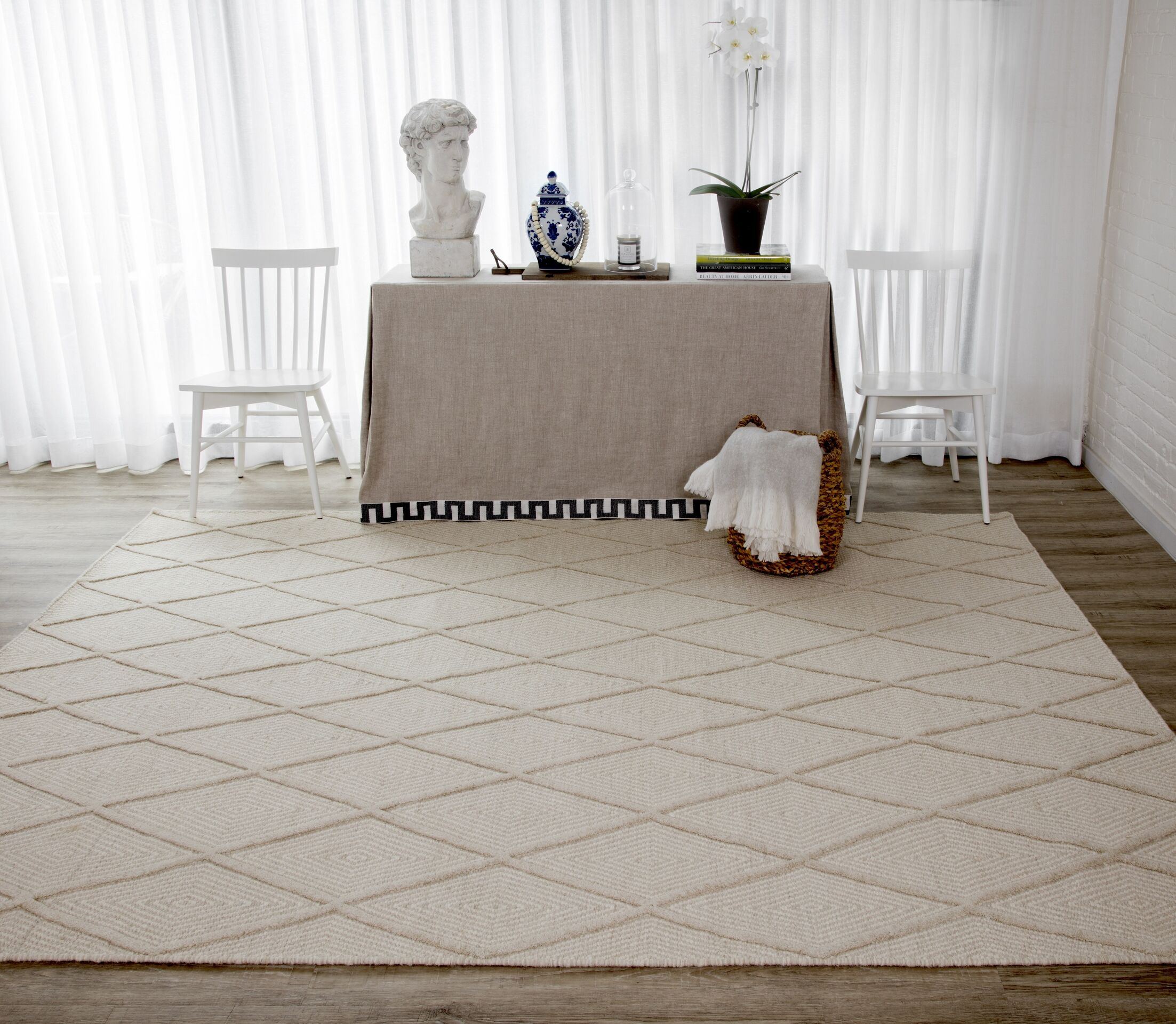 Langdon Spring Hand-Woven Wool Beige Area Rug Rug Size: Rectangle 8'6