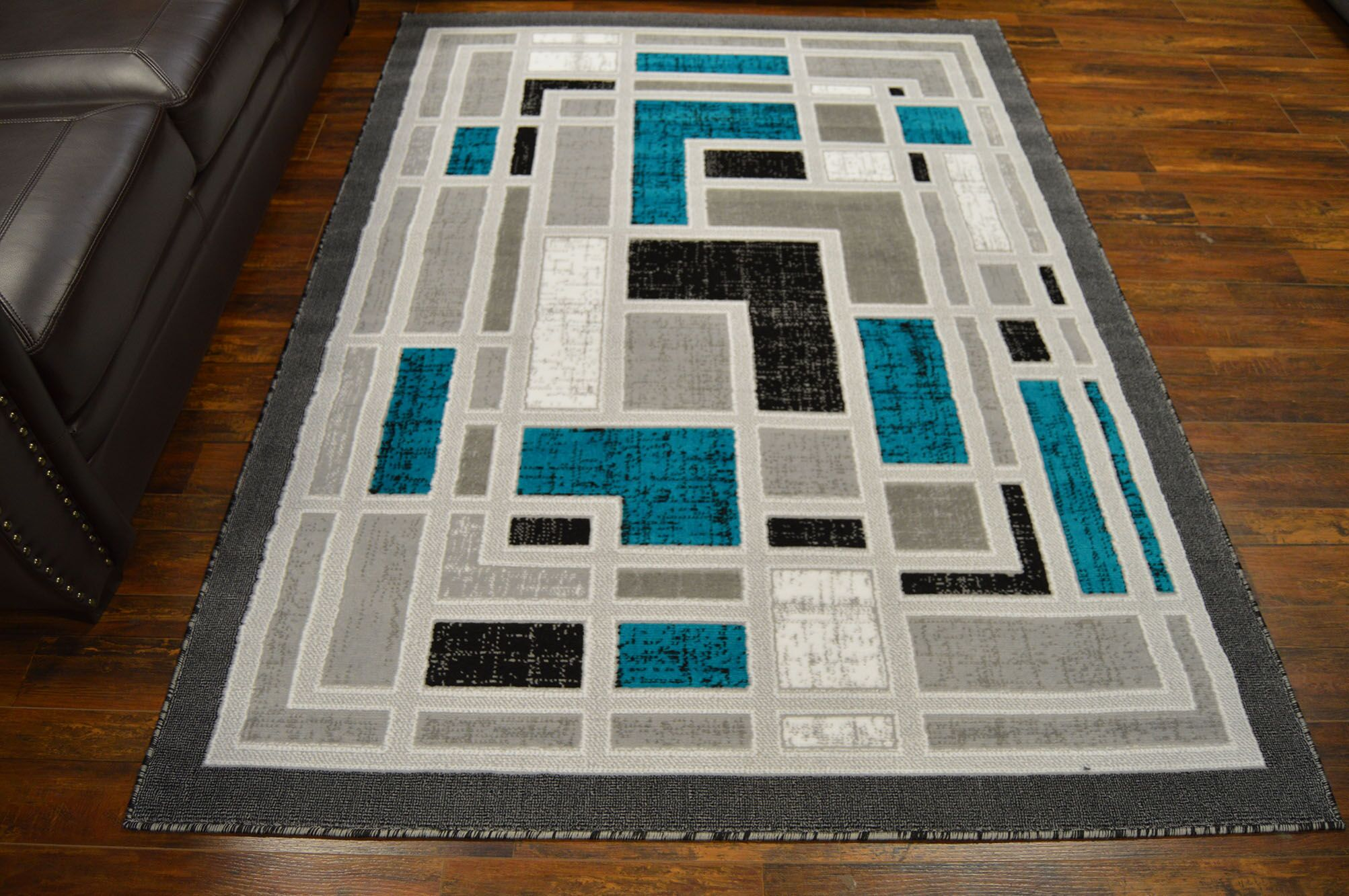 Cotter Turquoise/Gray Area Rug