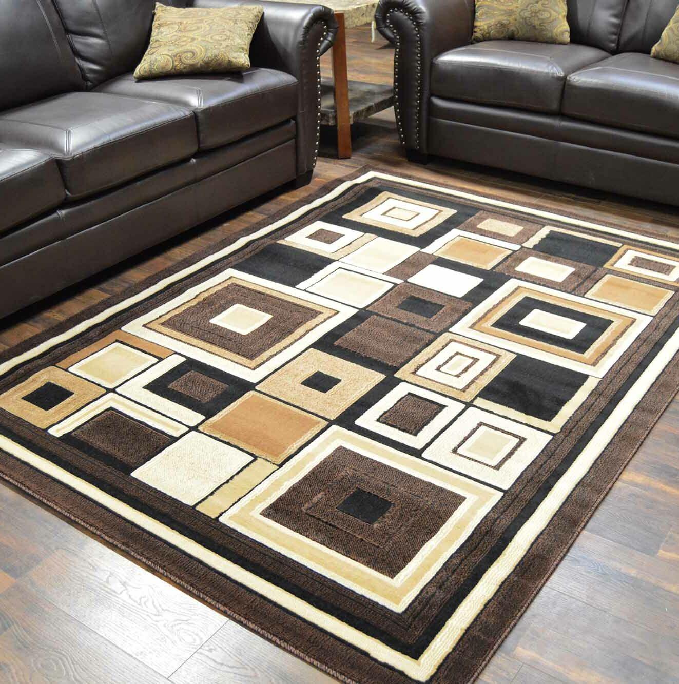 Cosper Brown/Beige Area Rug Rug Size: Rectangle 8' x 10'5