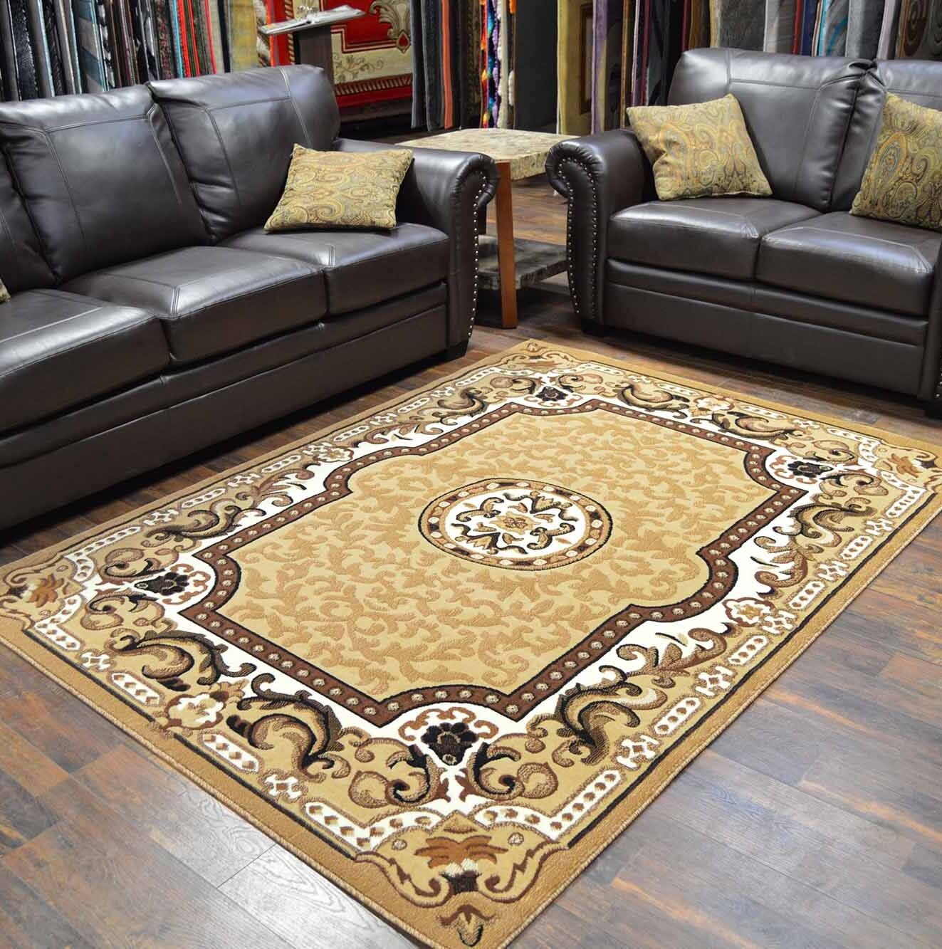 Riche Beige Area Rug Rug Size: Rectangle 8' x 10'5