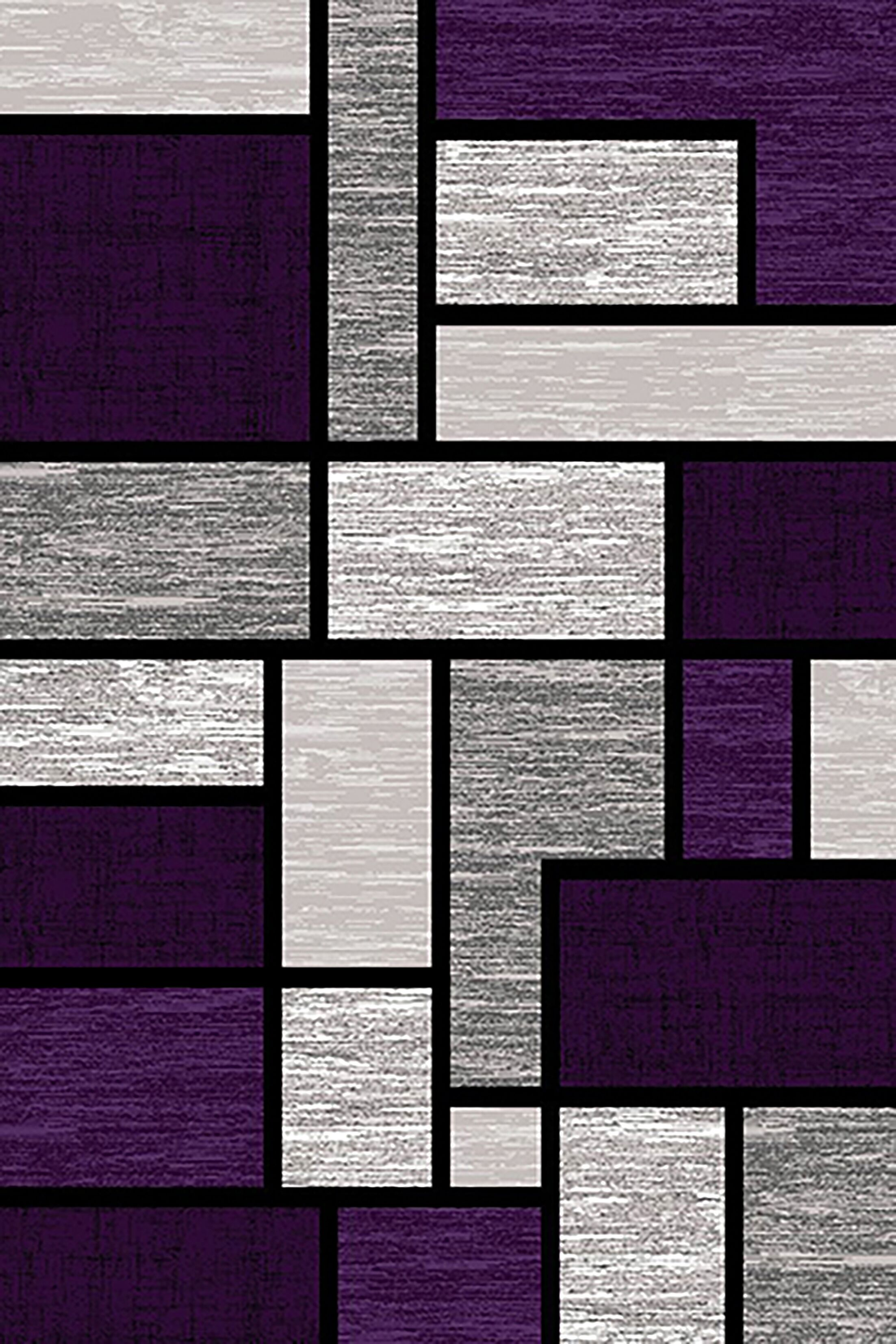 Mccampbell Purple/Gray Area Rug Rug Size: Rectangle 5' x 7'