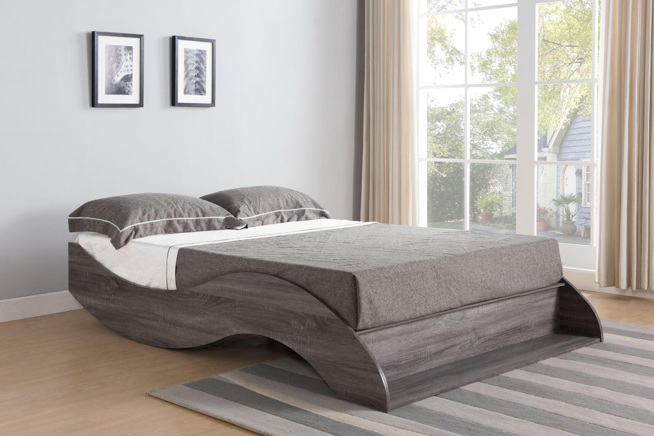 Eyler Platform Bed Size: Full, Color: Gray