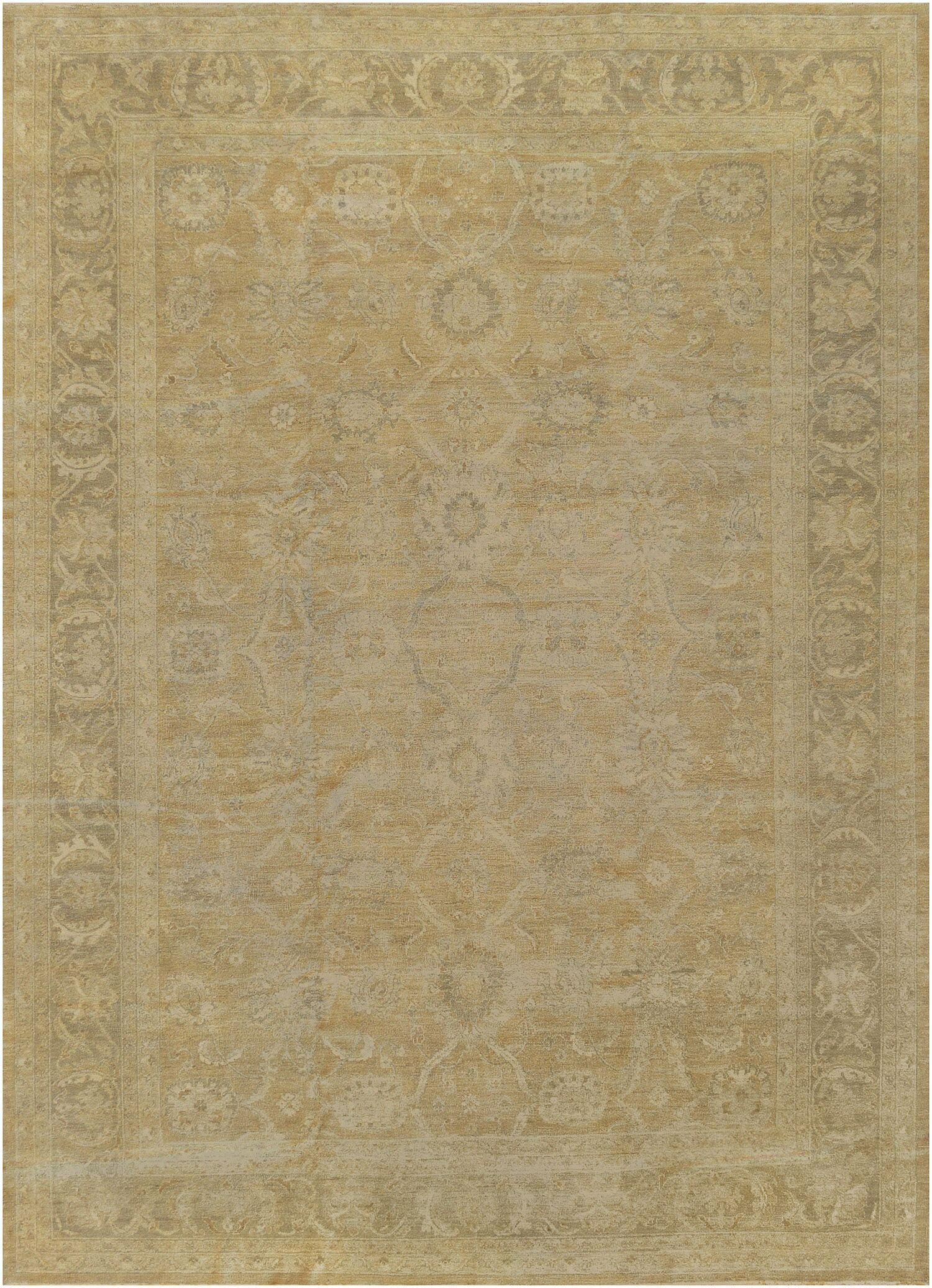 One-of-a-Kind Sultanabad Handwoven Wool Camel Indoor Area Rug