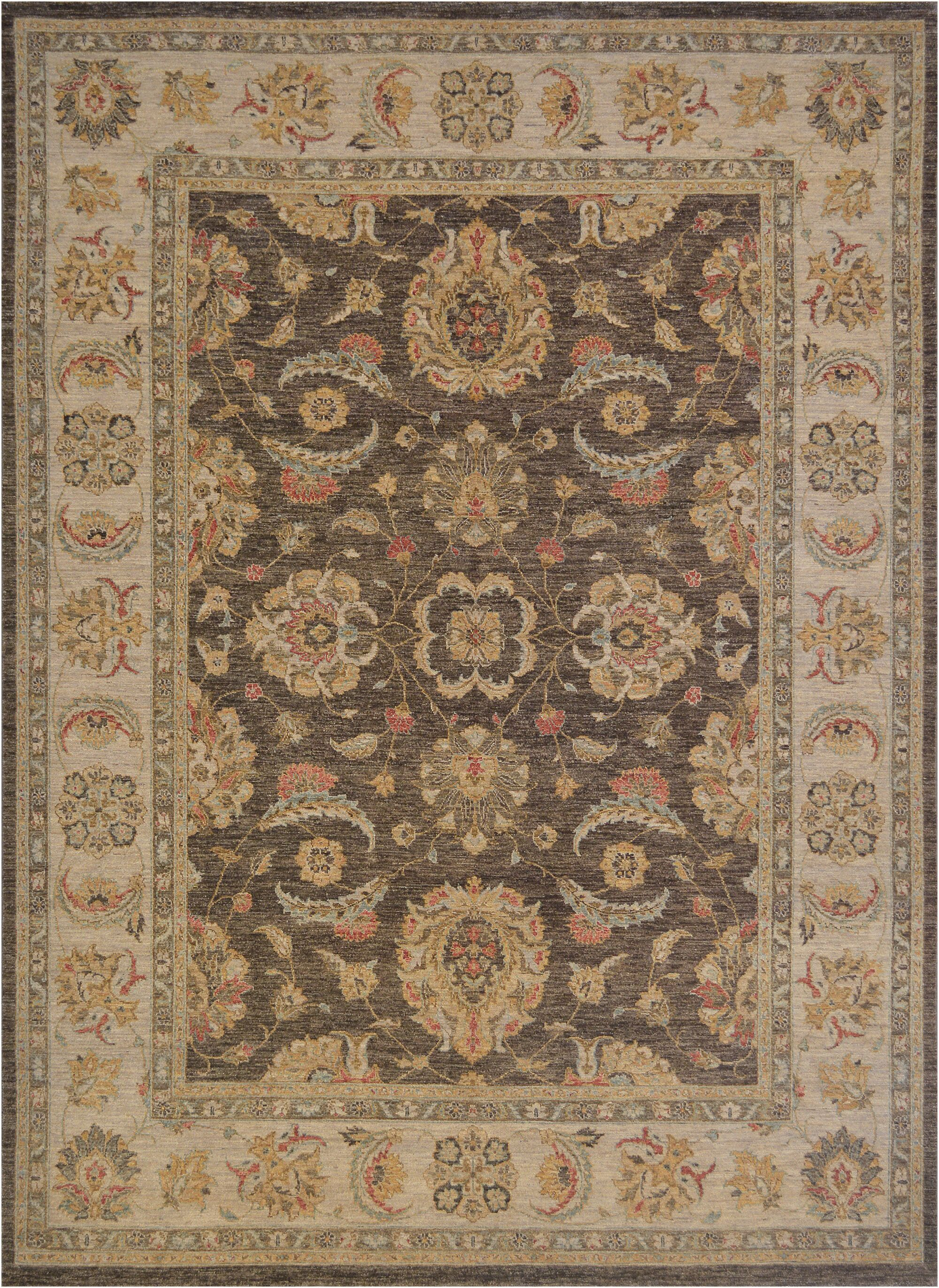 One-of-a-Kind Agra Fine Hand-Knotted Wool Brown/Beige Indoor Area Rug
