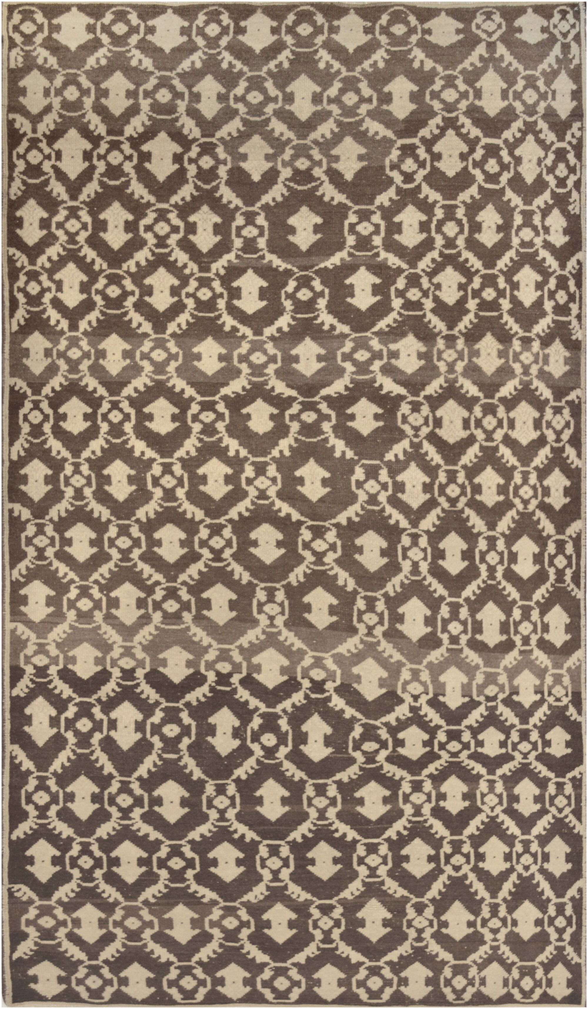 One-of-a-Kind Turkish Quality Hand-Knotted Wool Brown Indoor Area Rug