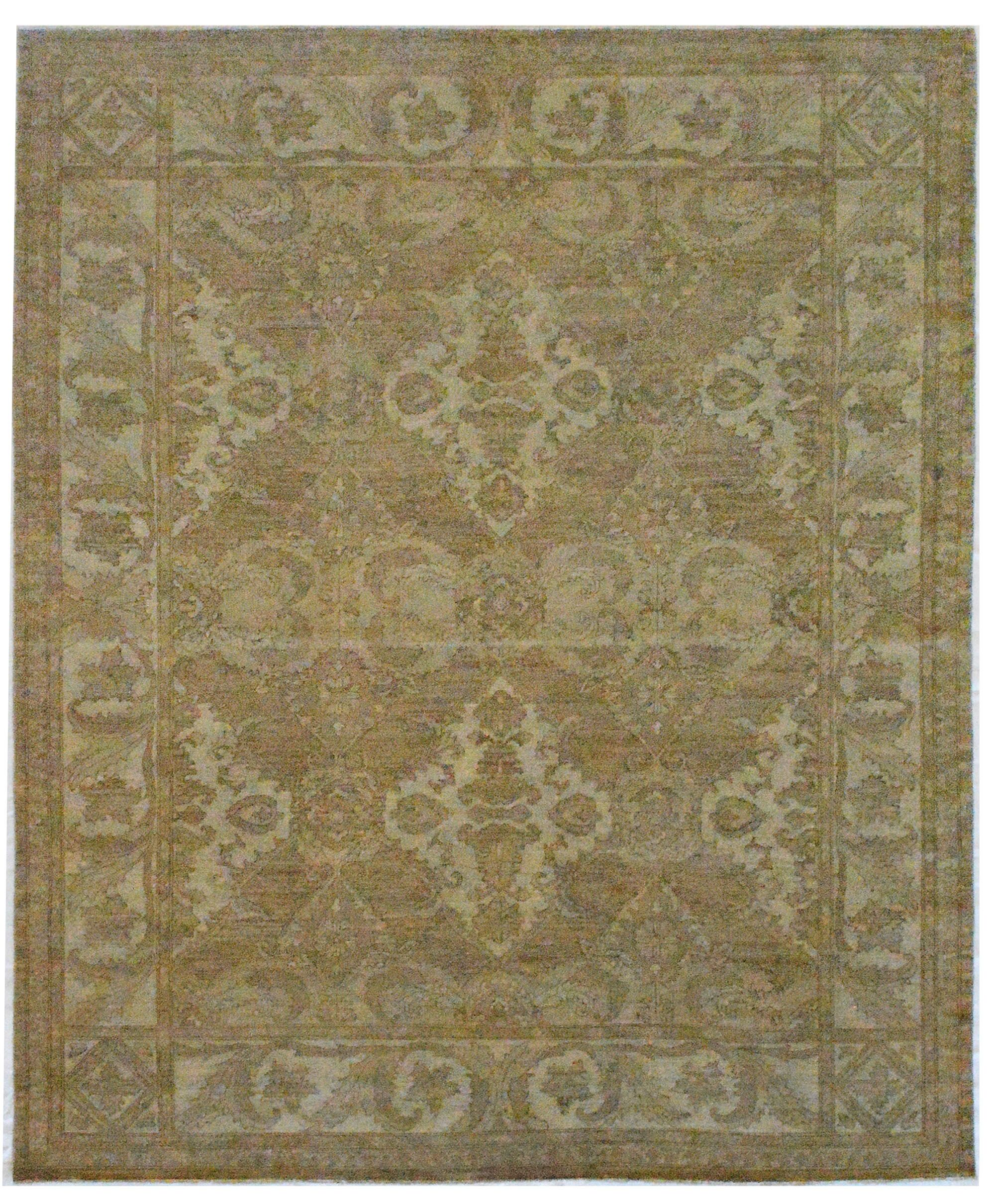One-of-a-Kind Quality Handwoven Wool Taupe Indoor Area Rug