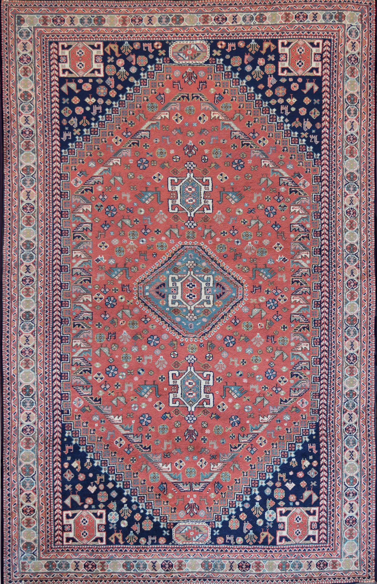 One-of-a-Kind Quality Handwoven Wool Red Indoor Area Rug