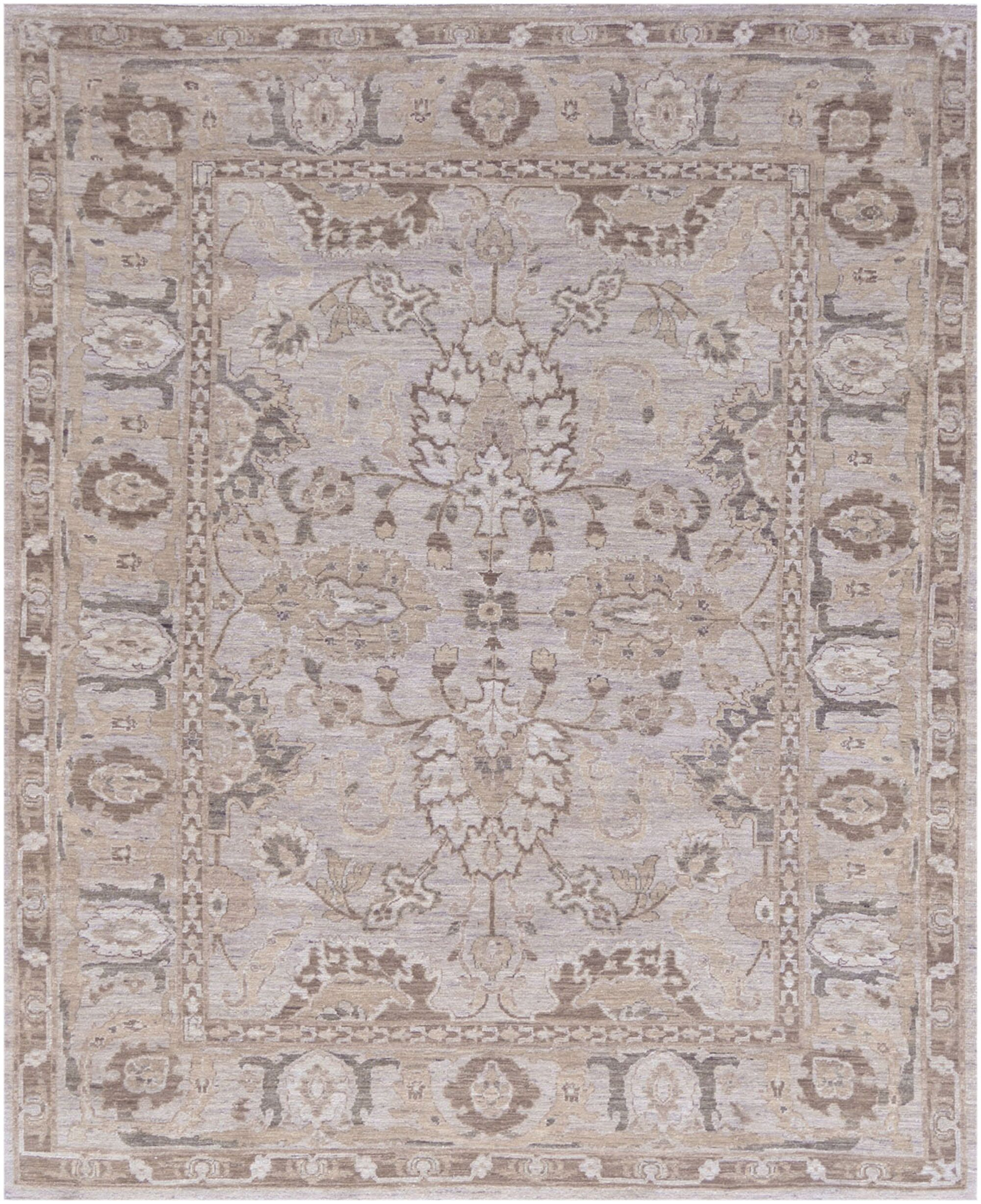 One-of-a-Kind Superb Quality Handwoven Wool Beige Indoor Area Rug