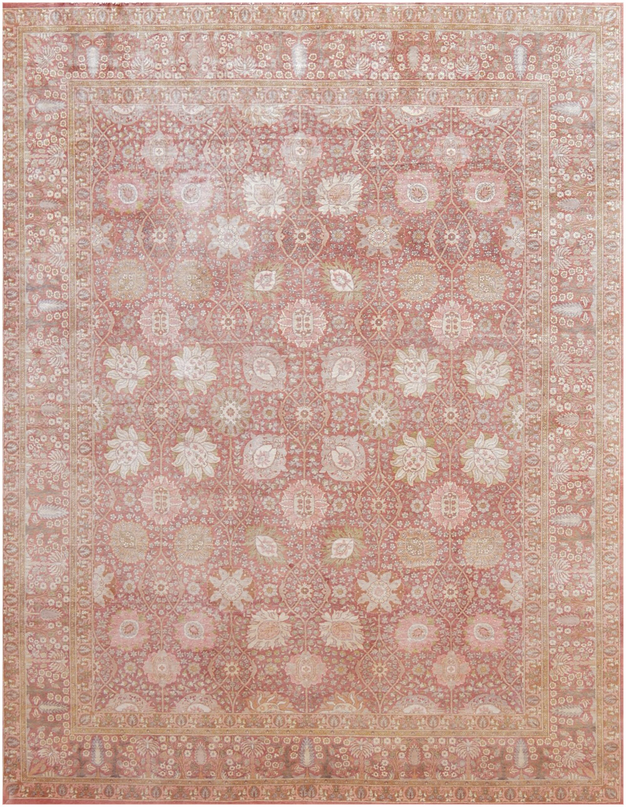 One-of-a-Kind Quality Handwoven Wool Terra Cotta Indoor Area Rug
