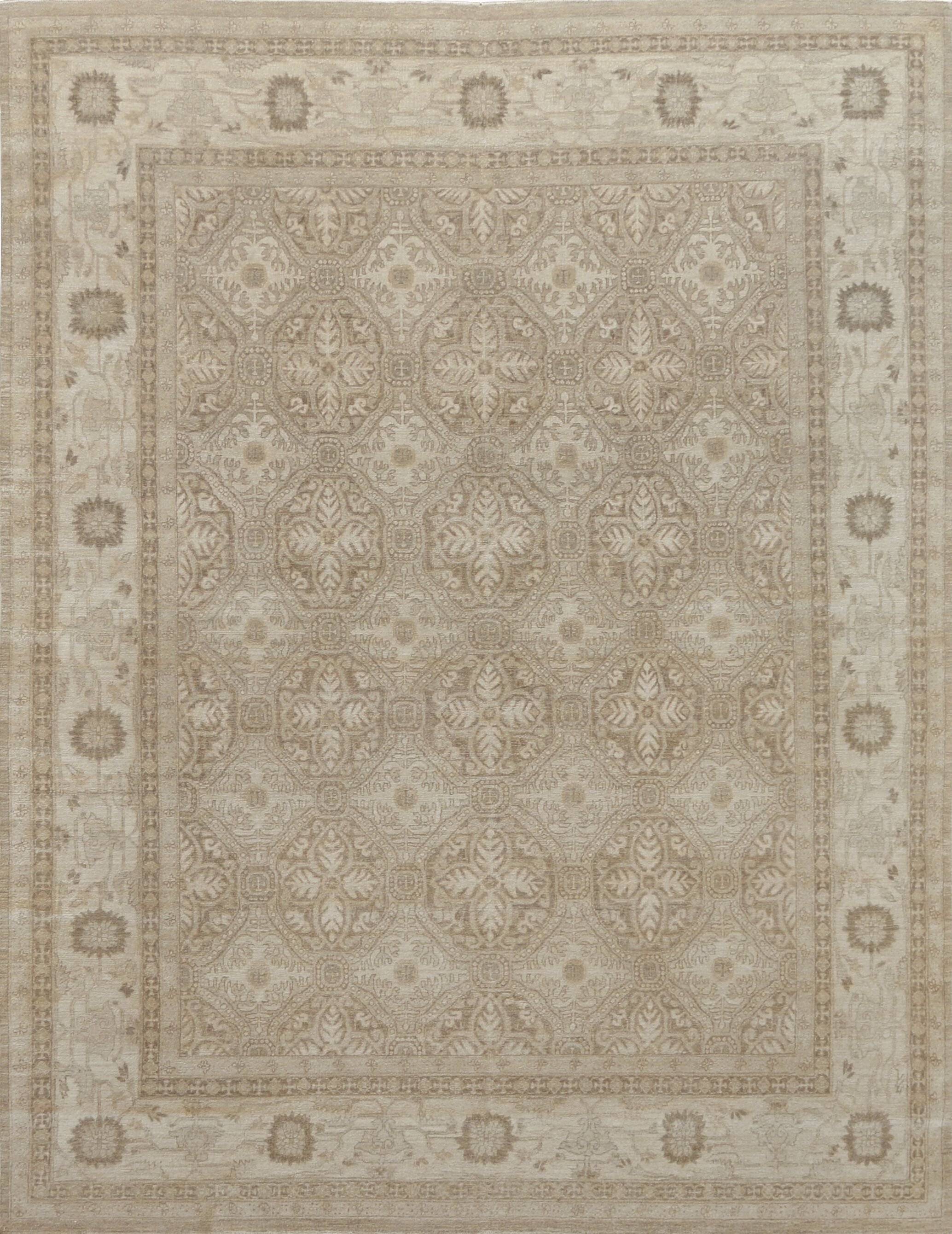 One-of-a-Kind Exceptional Handwoven Wool Brown Indoor Area Rug