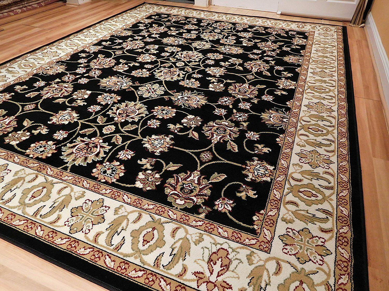 Rensselear Wool Black Indoor/Outdoor Area Rug Size: Rectangle 8' x 11'