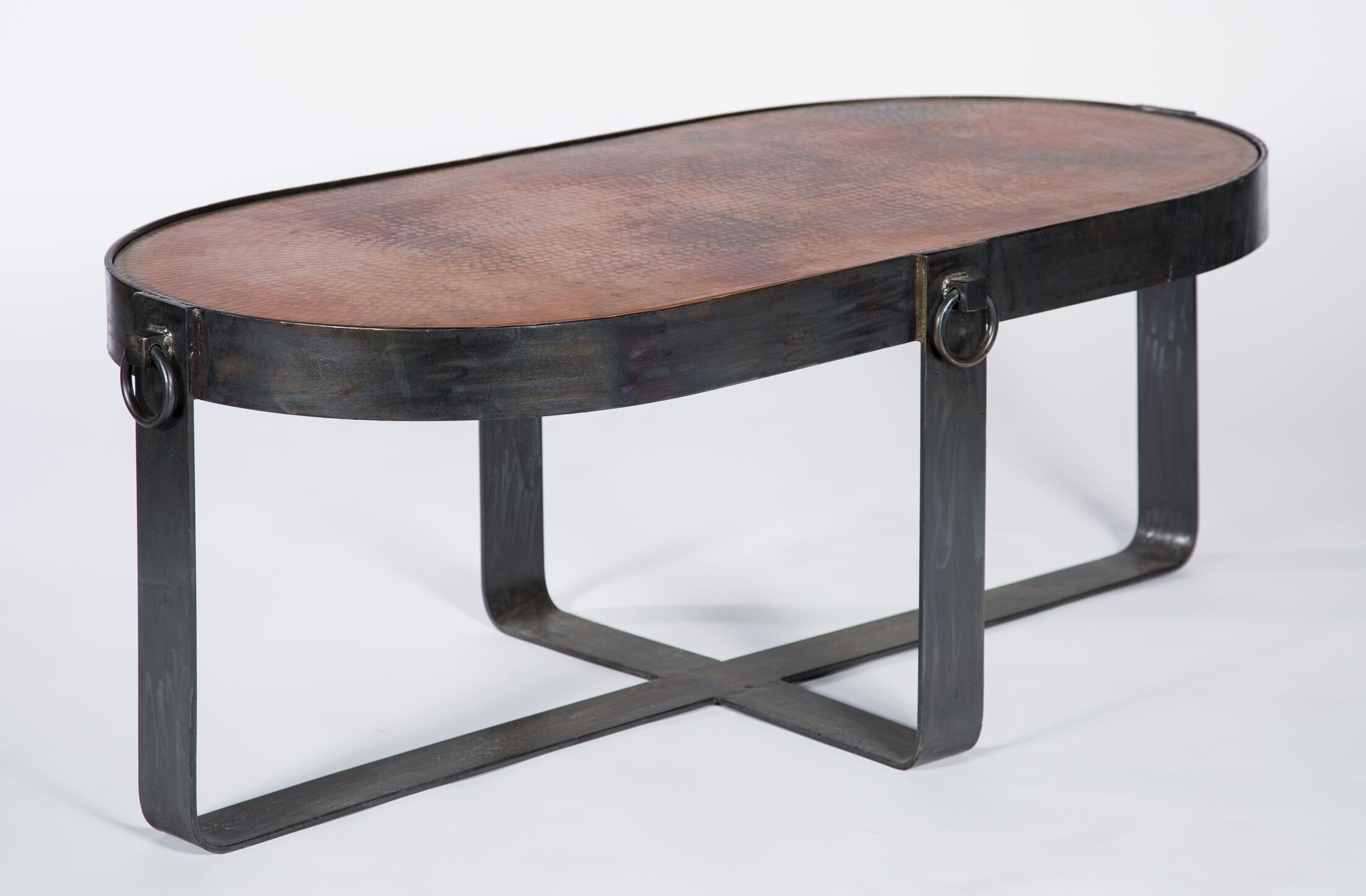 Caitlynn Coffee Table Table Top Color: Dark Brown Copper