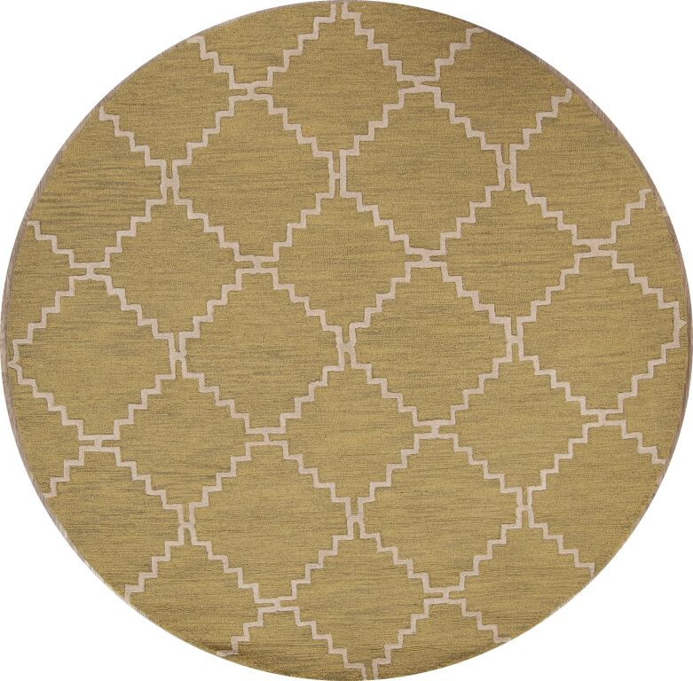 One-of-a-Kind Ayler Trellis Oushak Oriental Hand-Tufted Wool Green Area Rug