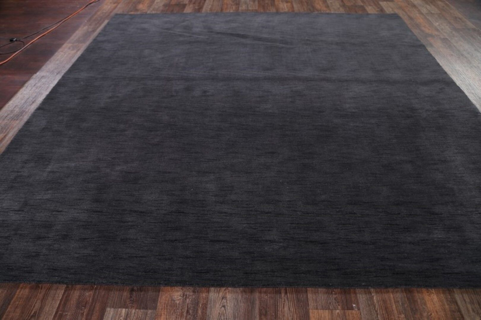 One-of-a-Kind Albus Gabbeh Indian Oriental Hand-Knotted Wool Gray/Charcoal Area Rug Rug Size: Rectangle 8'1