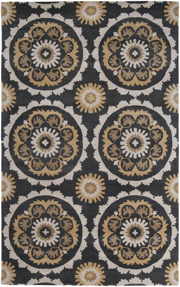 Mosaic Charcoal/Butter Area Rug Rug Size: Rectangle 9' x 13'