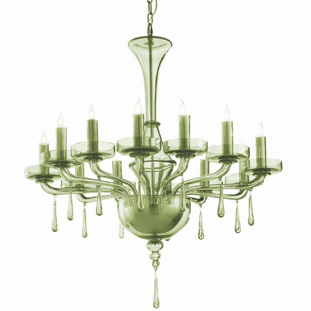 Oroveso 12-Light Candle Style Chandelier Finish: Green