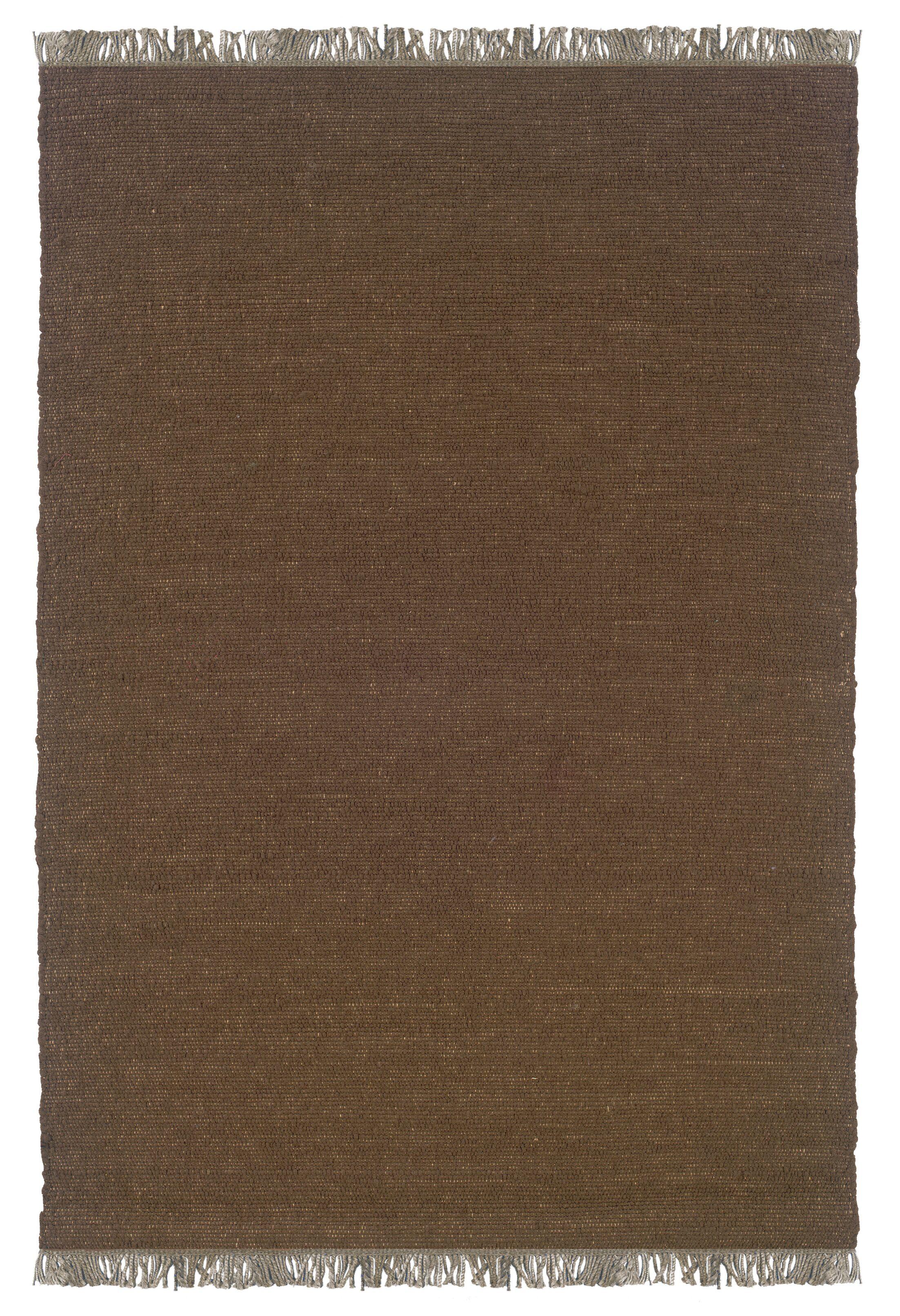 Landenberg Hand-Woven Cocoa Area Rug Rug Size: Rectangle 5'3