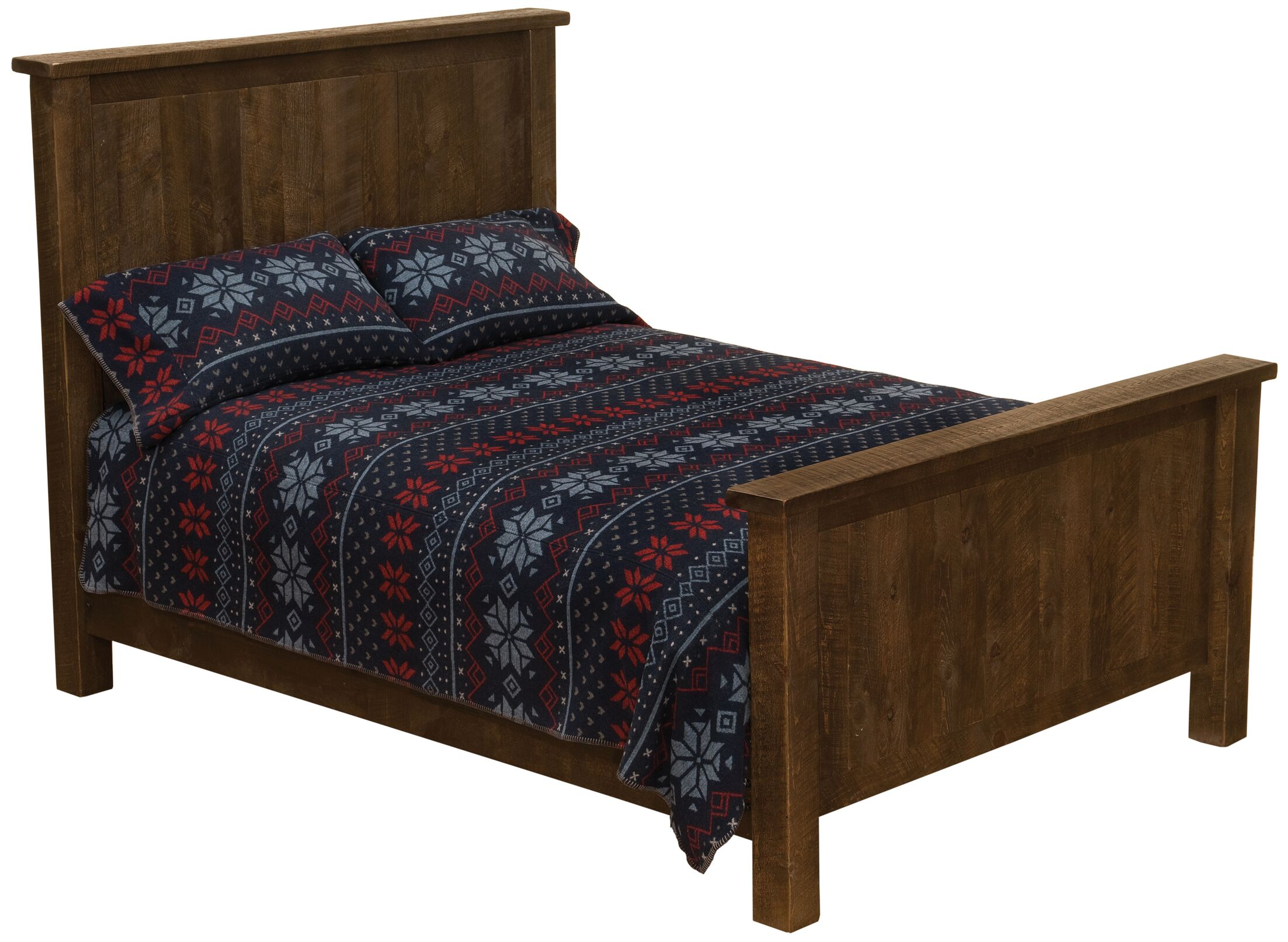 Frontier Panel Headboard Color: Barn Brown, Size: Single