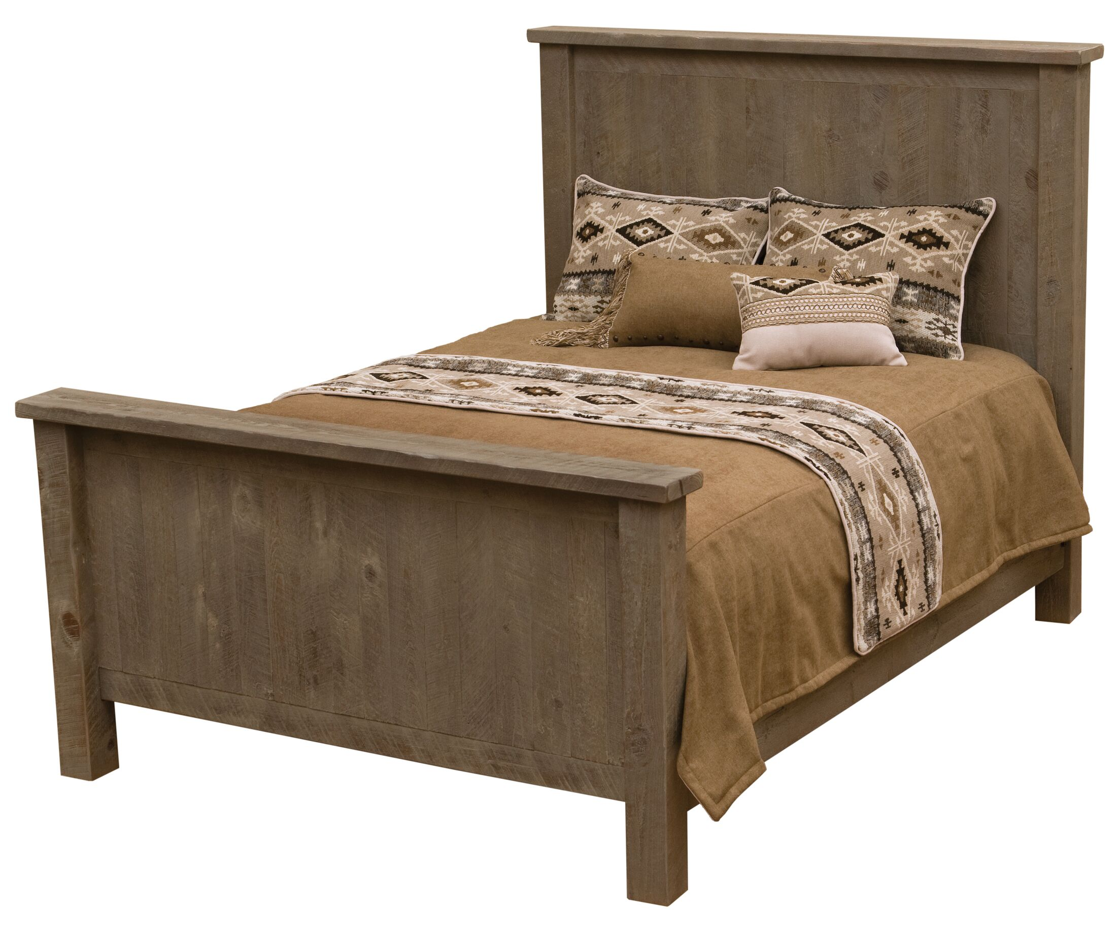 Frontier Panel Bed Color: Driftwood, Size: Double