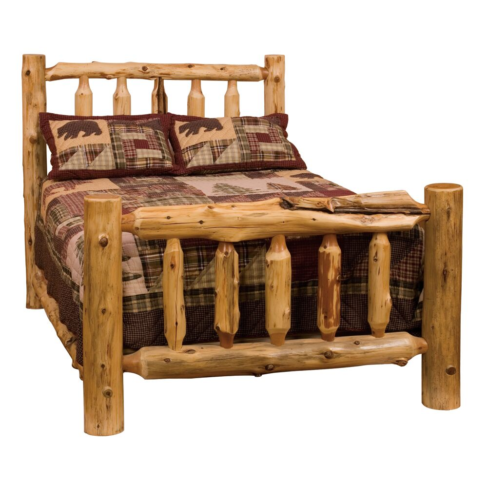 Traditional Cedar Log Slat Headboard Size: Full, Color: Vintage Finish